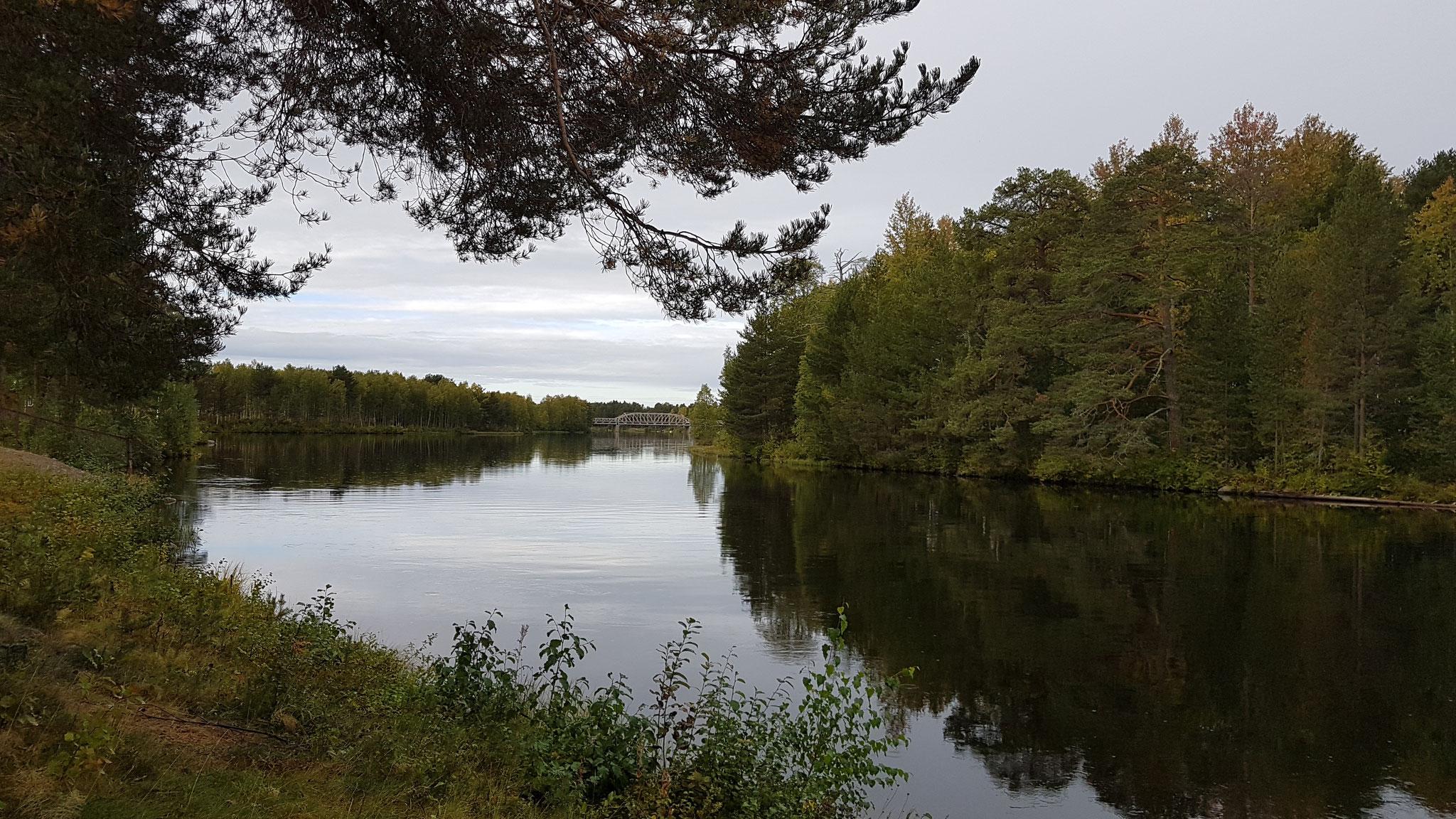 Ein kleiner Spaziergang am spiegelnden Fluss