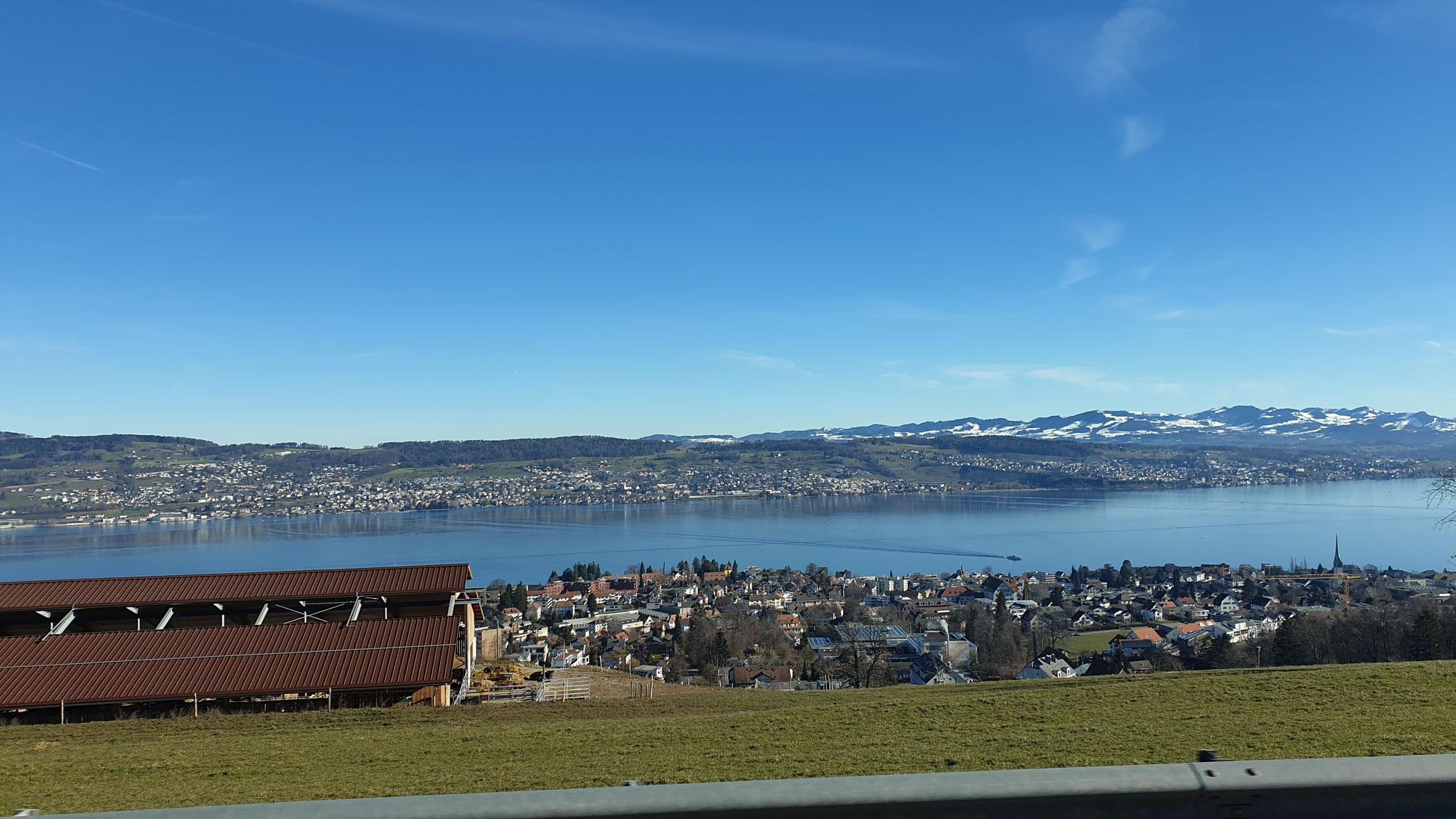Aussichgt über den Zürichsee