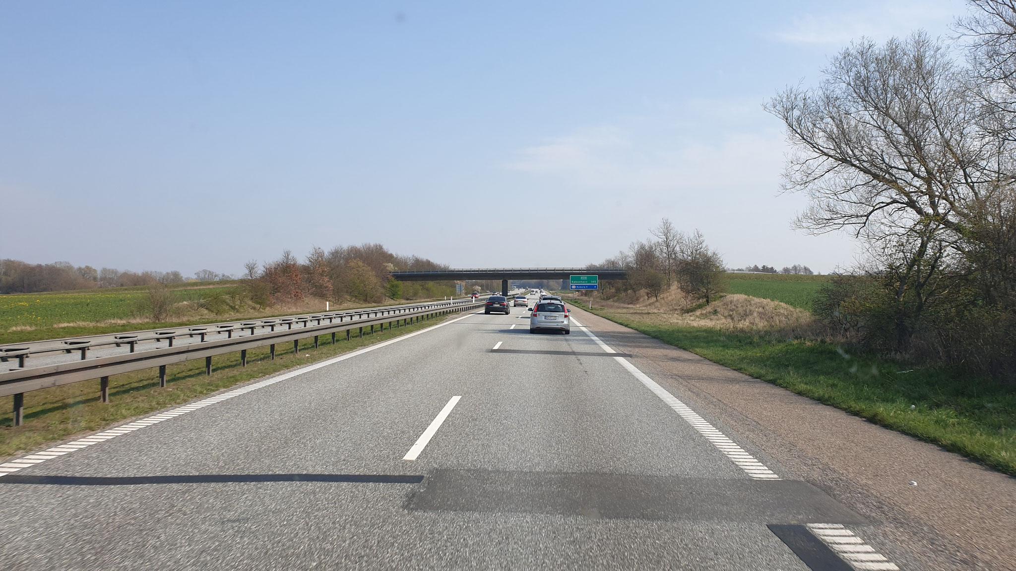 Auf dem Weg nach Korsør