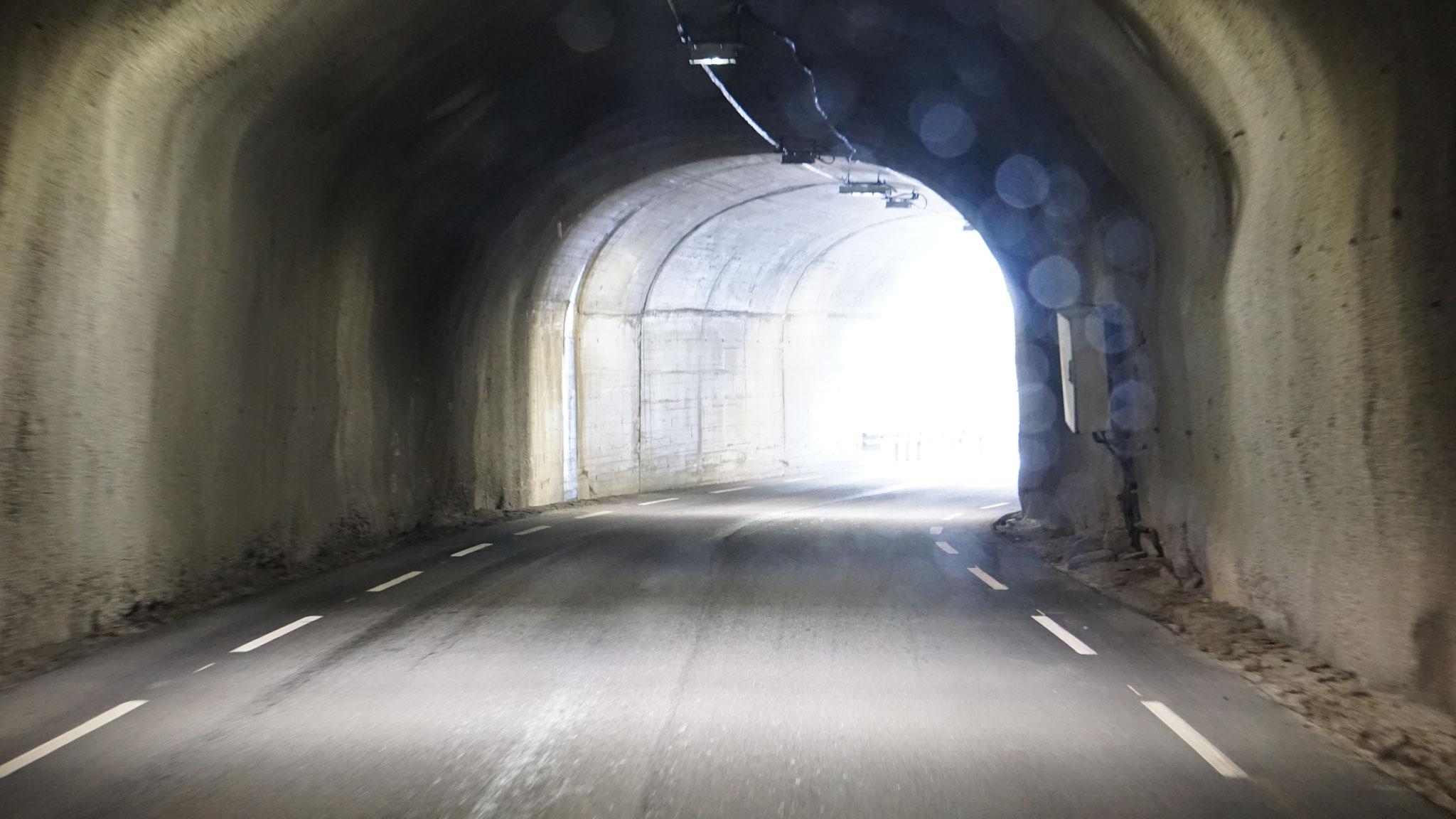 Und die schmalen Naturtunnel beginnen...