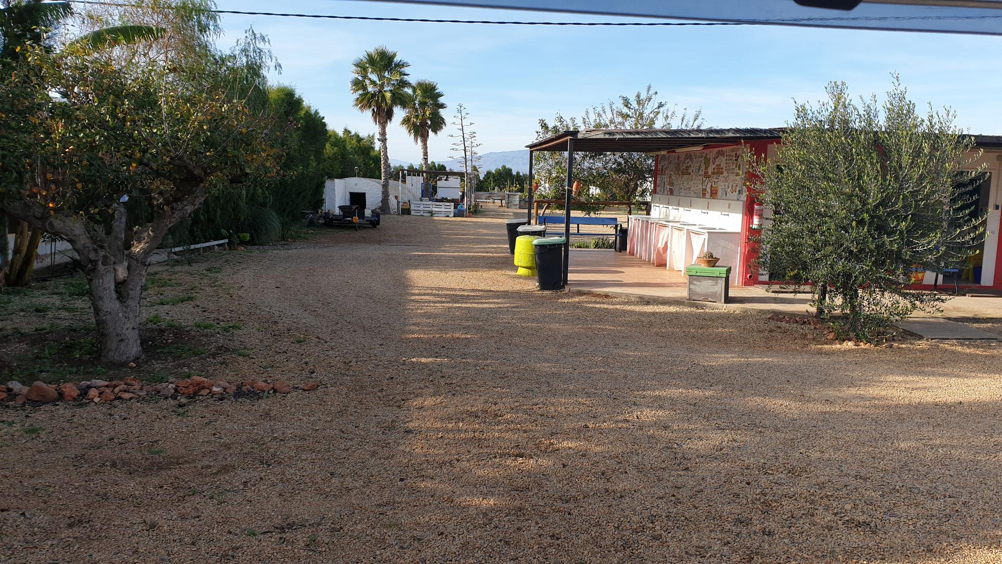 Unser Stellplatz in San José (Nijar)