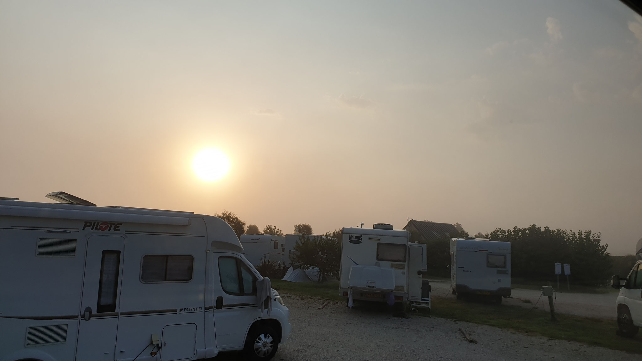 Sonnenaufgang über Utah Beach