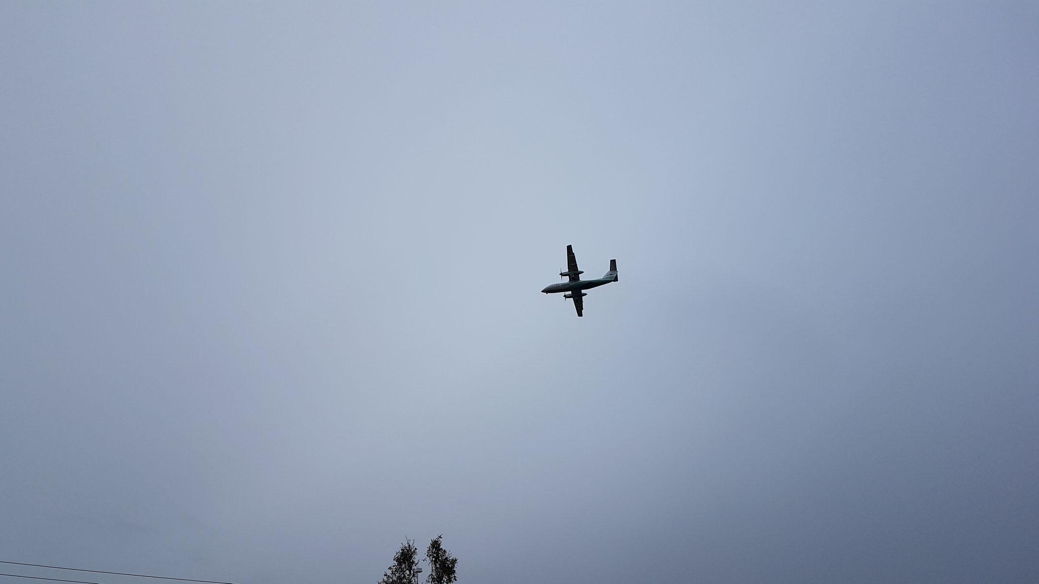 Flugzeug über Alta