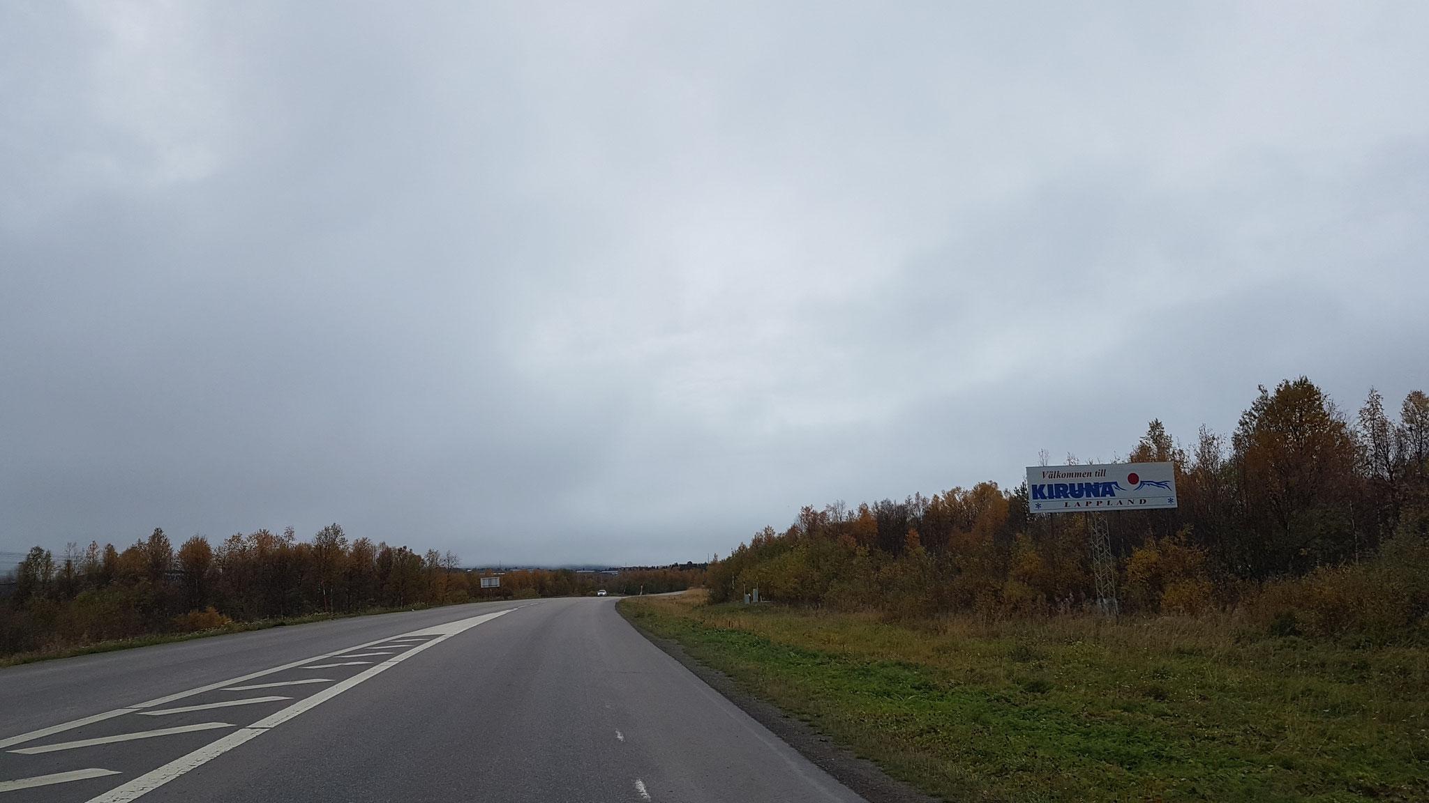 Jetzt gehts nach Kiruna....