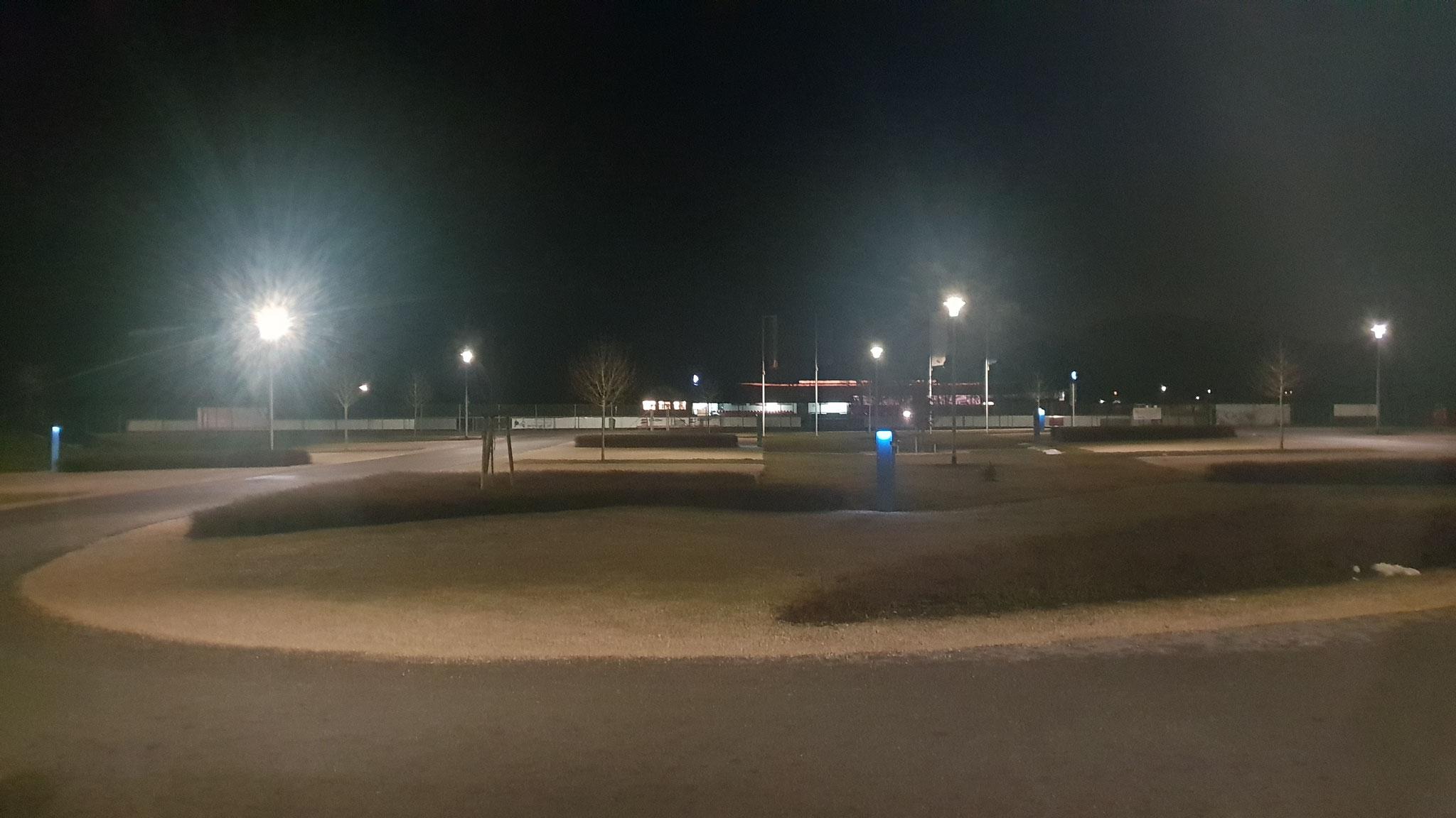 Abends sind wir wieder alleine auf dem Platz