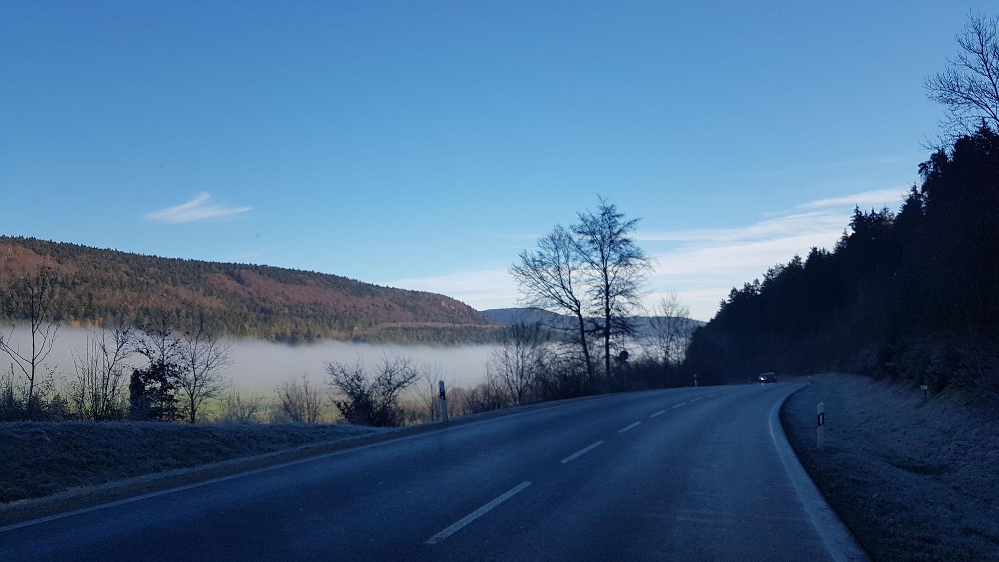 Immer wieder sehen wir Nebelmeere...