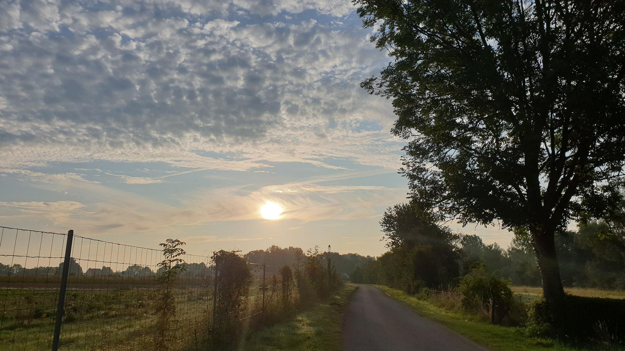 Der Morgen erwacht in Nordfrankreich...