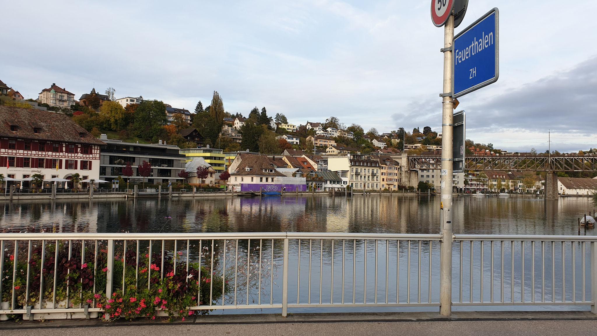 ...über den Rhein Richtung Grenze