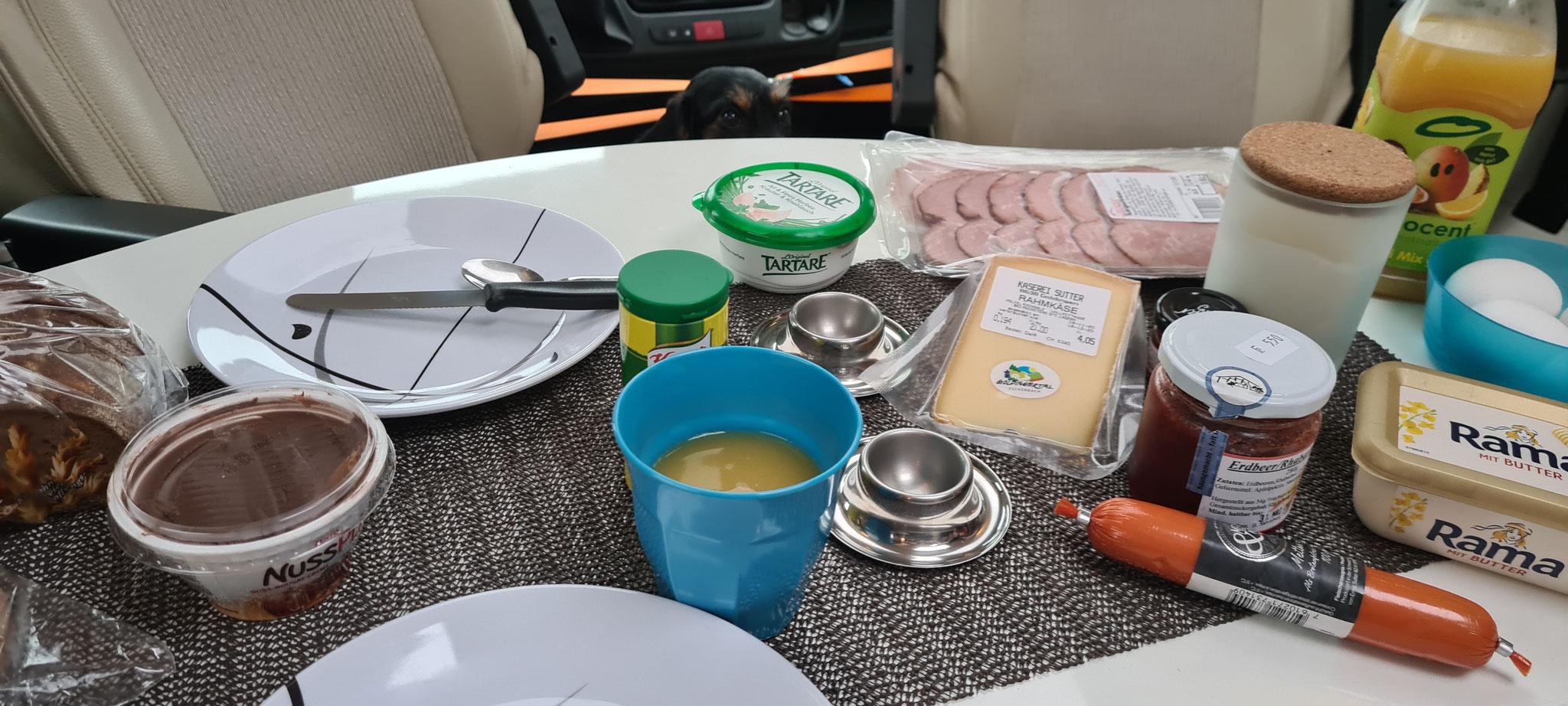 Frühstück im WoMo - auch in der CH lecker