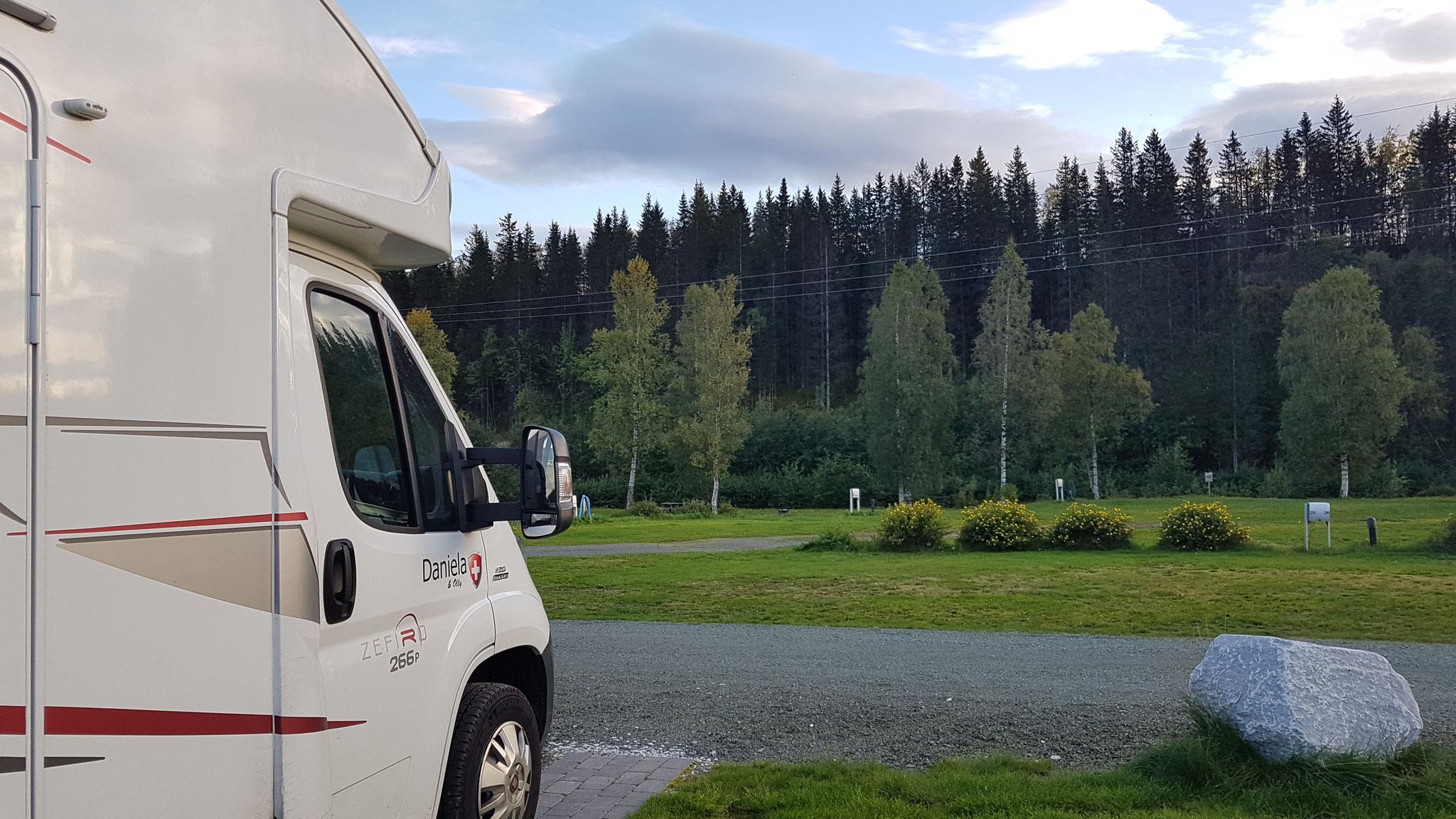 Unser Campingplatz in Mo i Rana