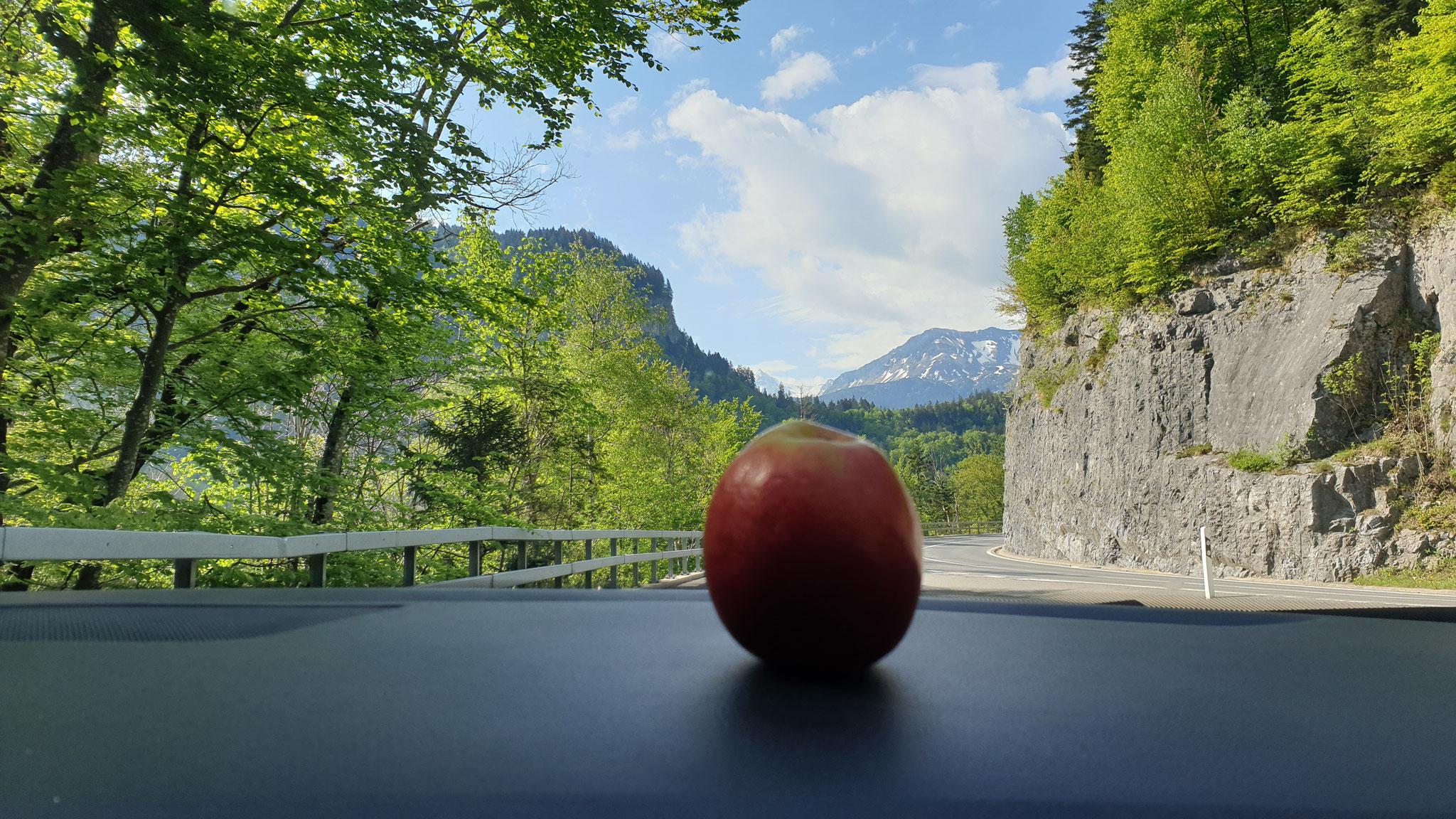Im PKW: Der Apfel fällt nicht weit vom Armaturenbrett
