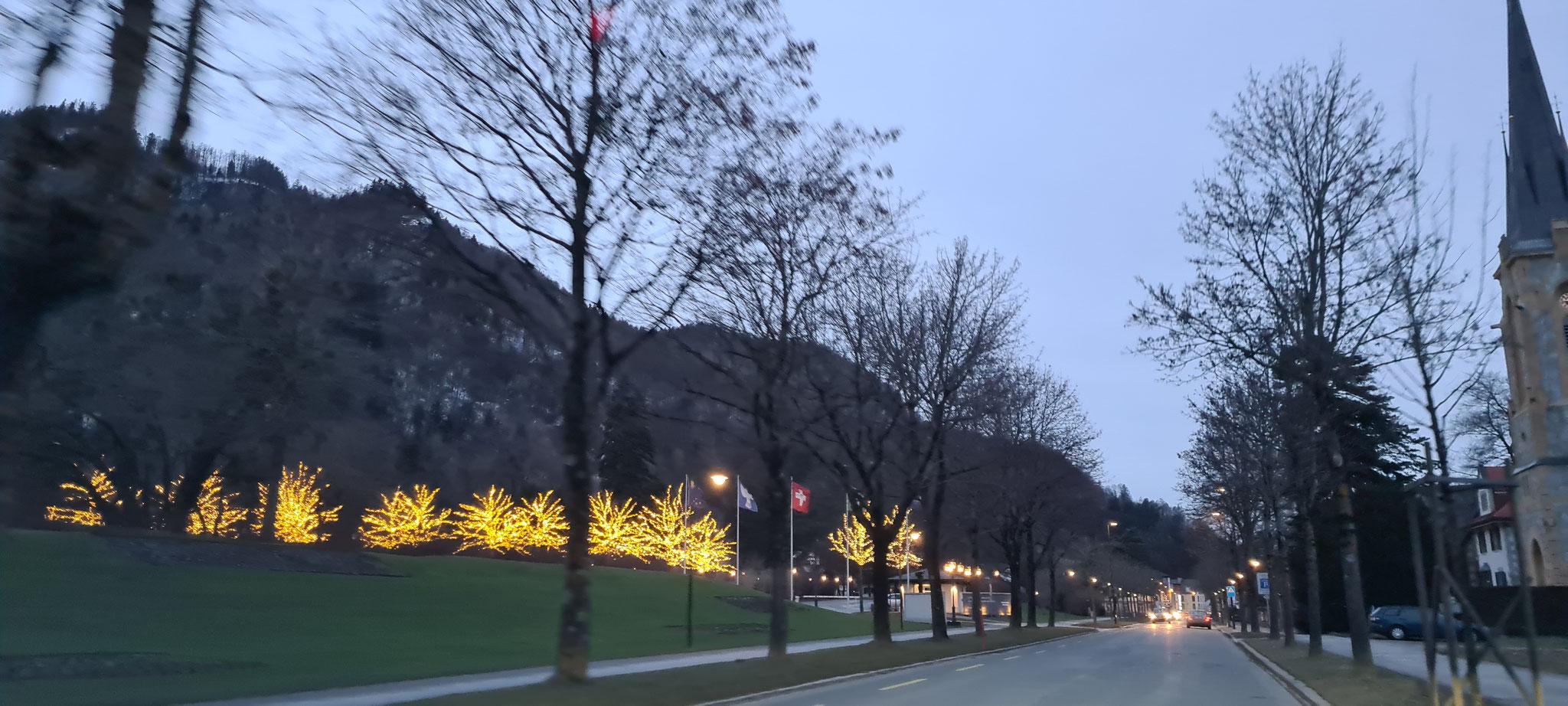 In Bad Ragaz gibt es richtig viel Beleuchtung zu sehen...