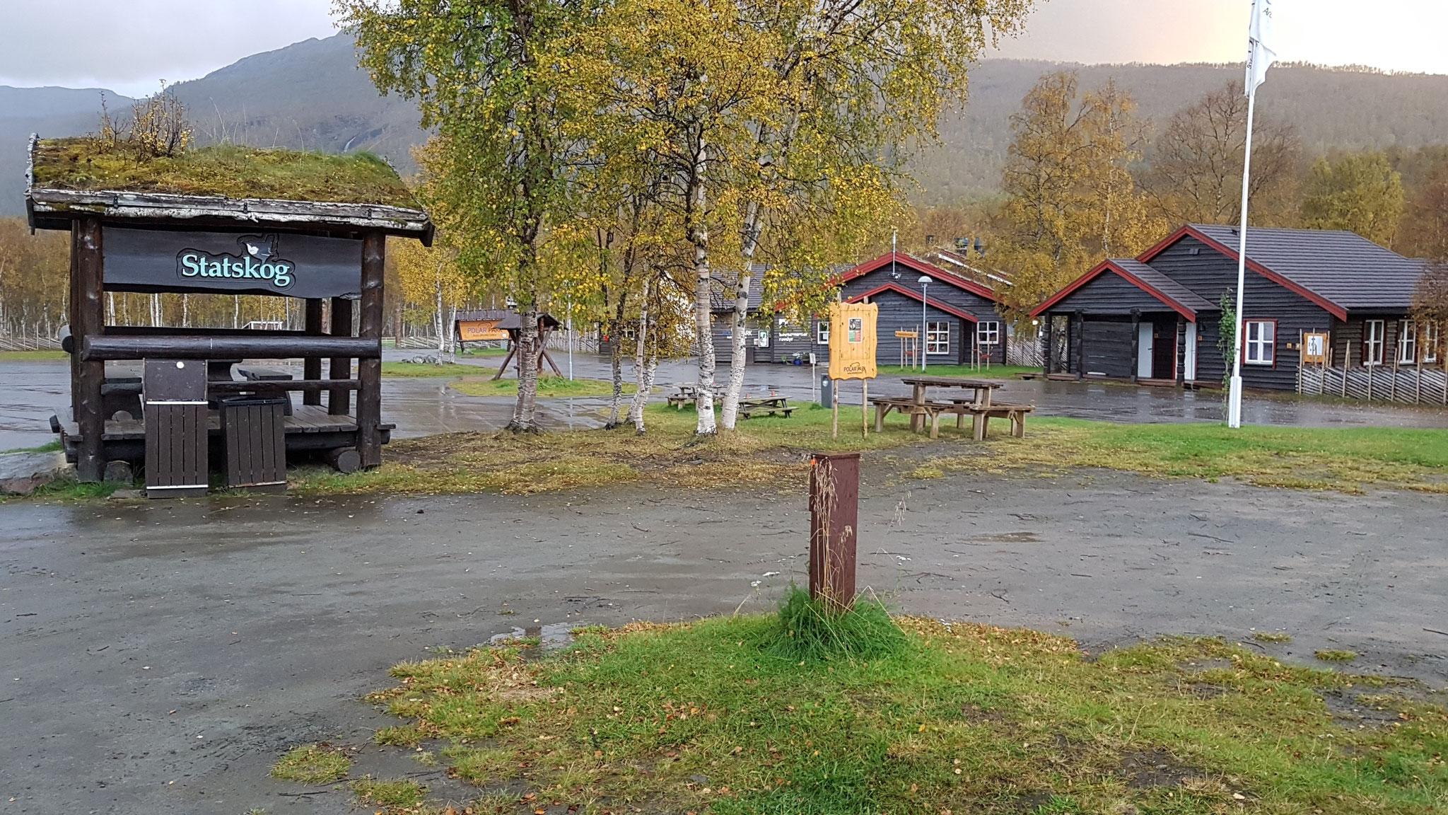 Unser Stellplatz am Polar Park - der nördlichste Wildpark in Europa