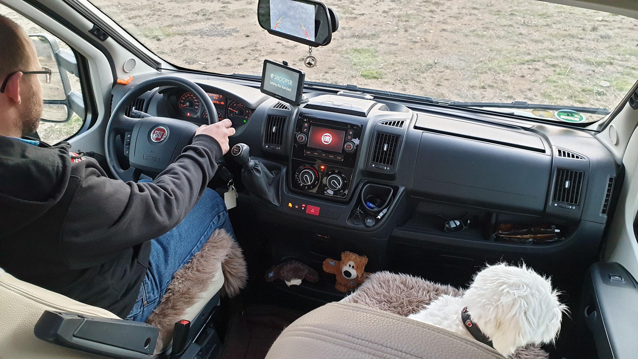 Daniel hat einen neuen Beifahrer