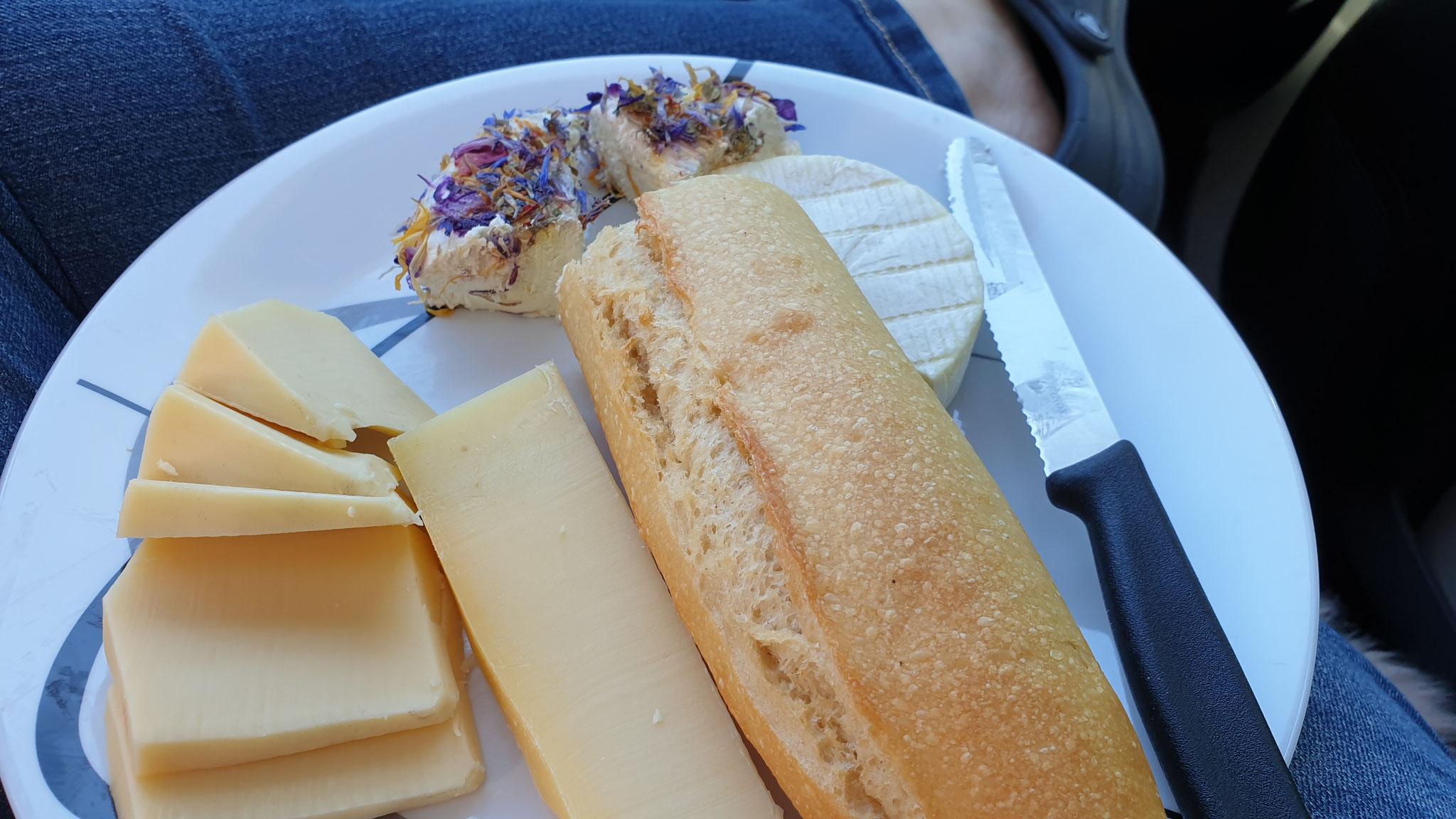 Zum Mittagessen gibt es Käse aus CH und F