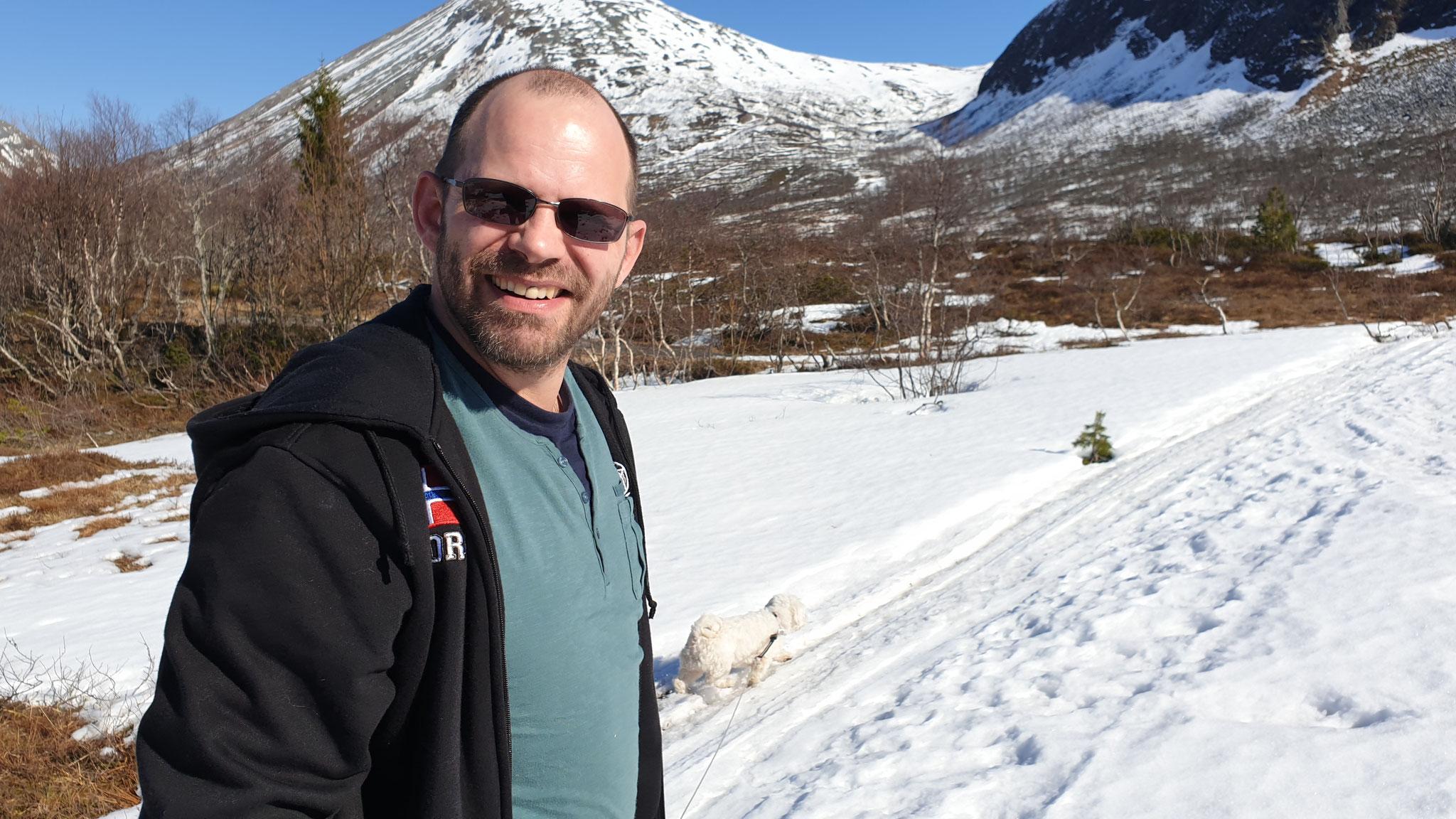 Daniel im Schnee...