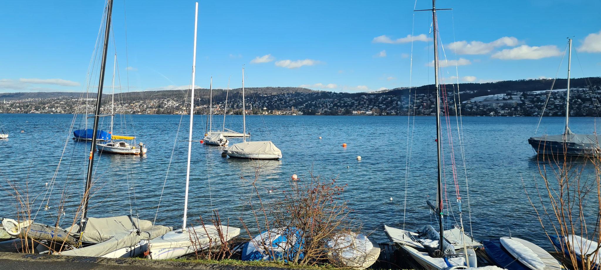 ...dem Zürichsee entlang...