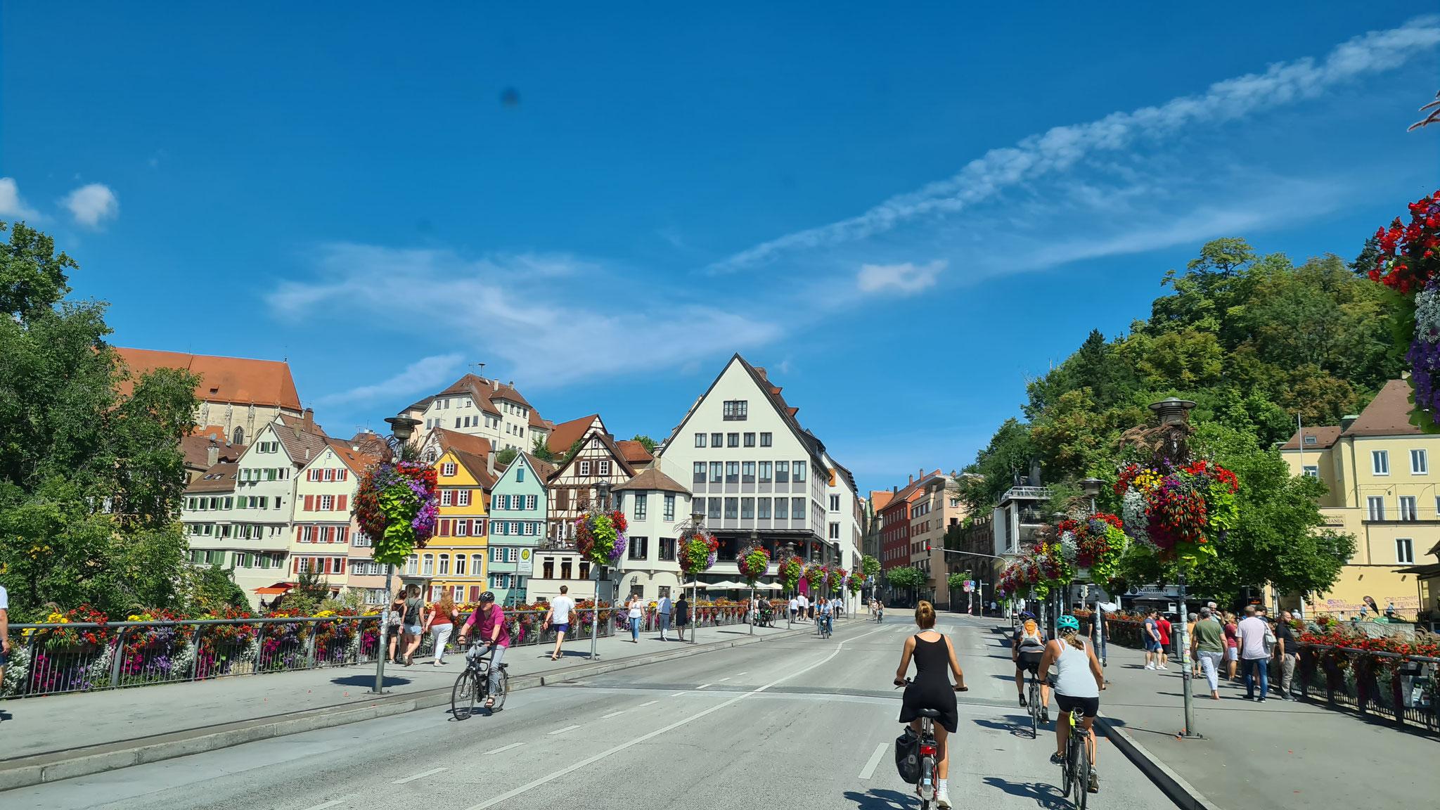 Fahrt durch Tübingen...