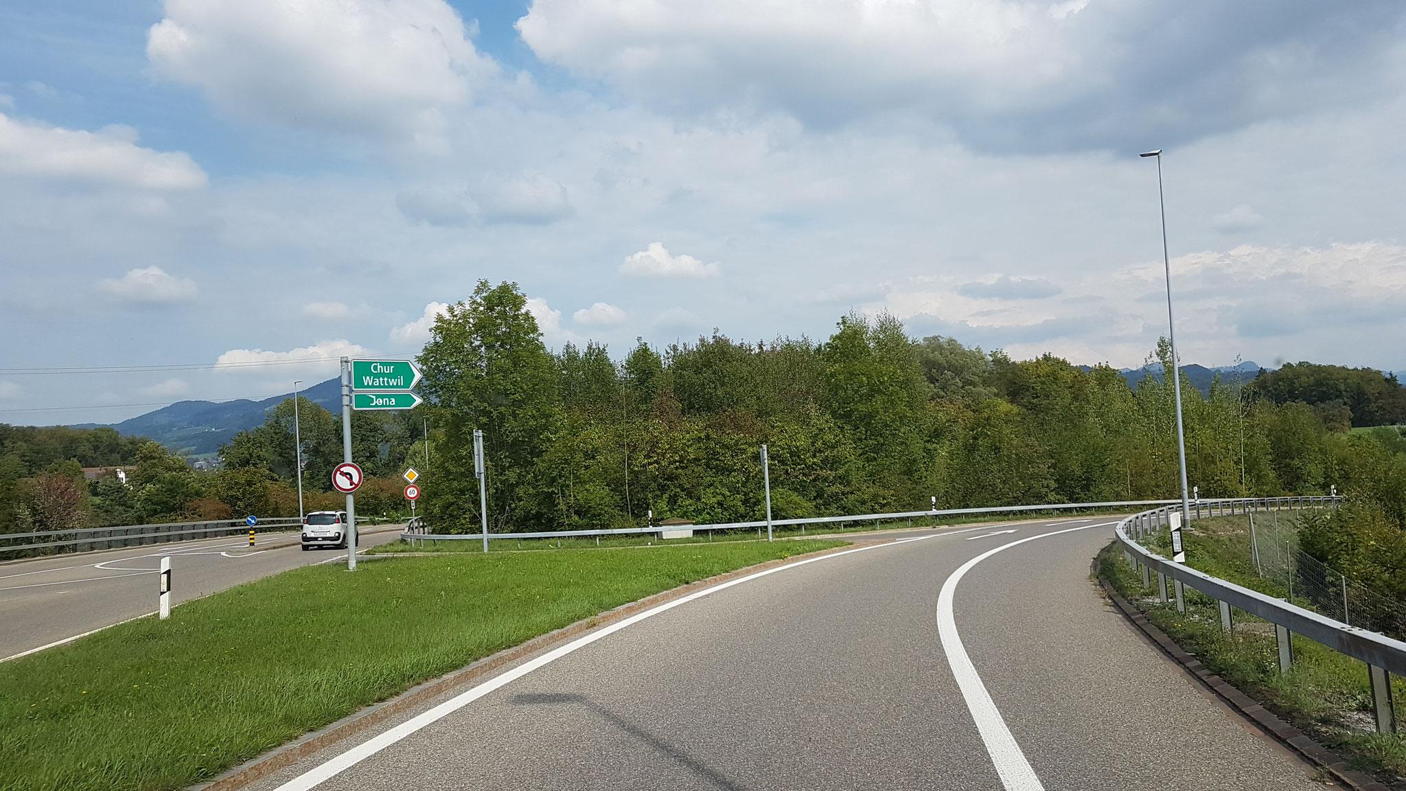 Auf die Autostrasse / Autobahn ... und los!