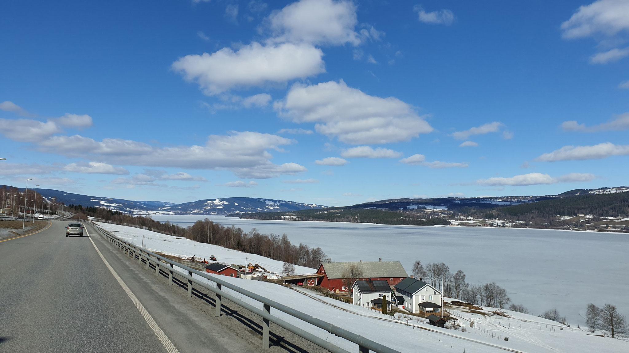 Einfahrt nach Lillehammer