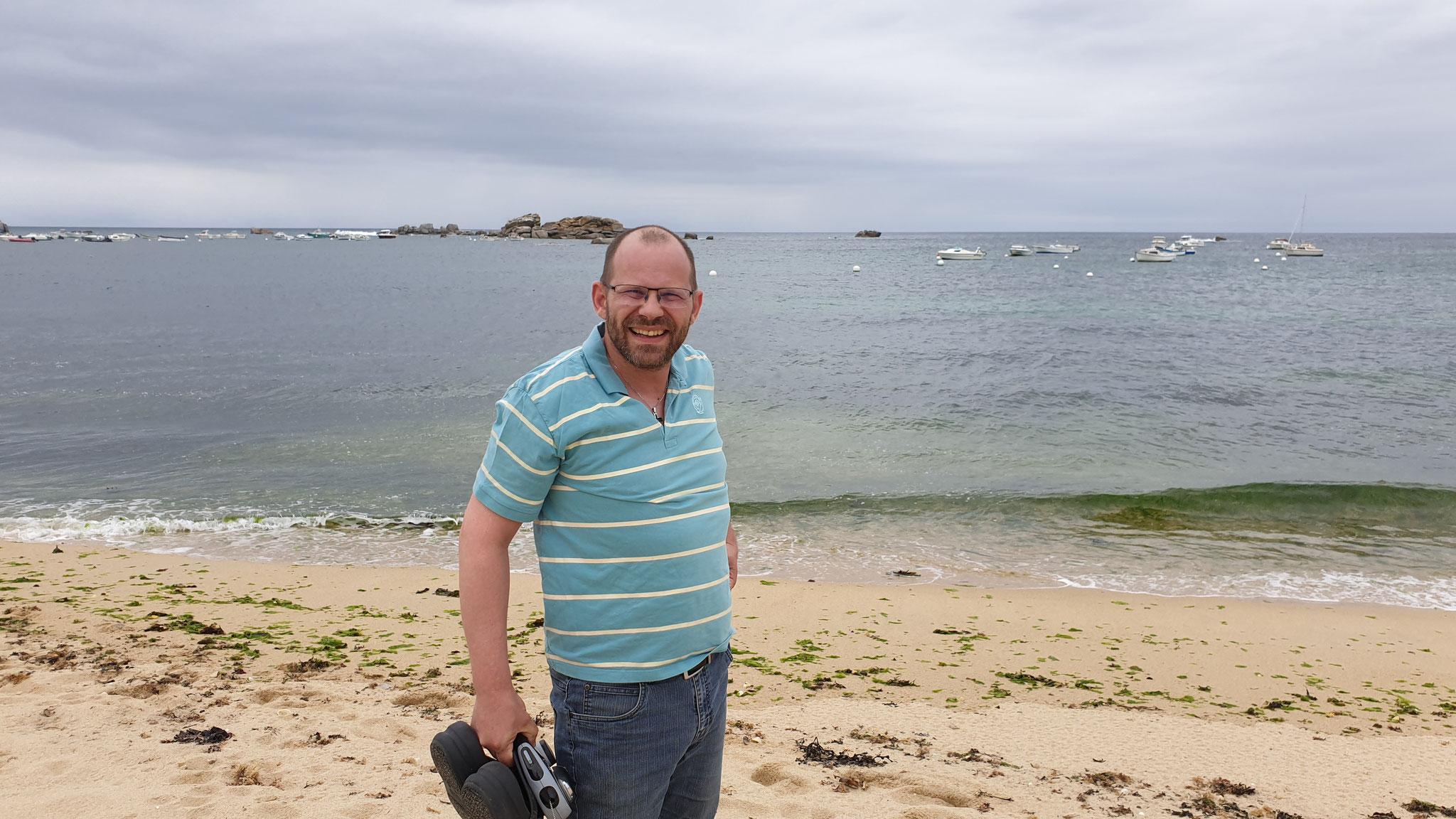 In den Ferien und dem Atlantik angekommen