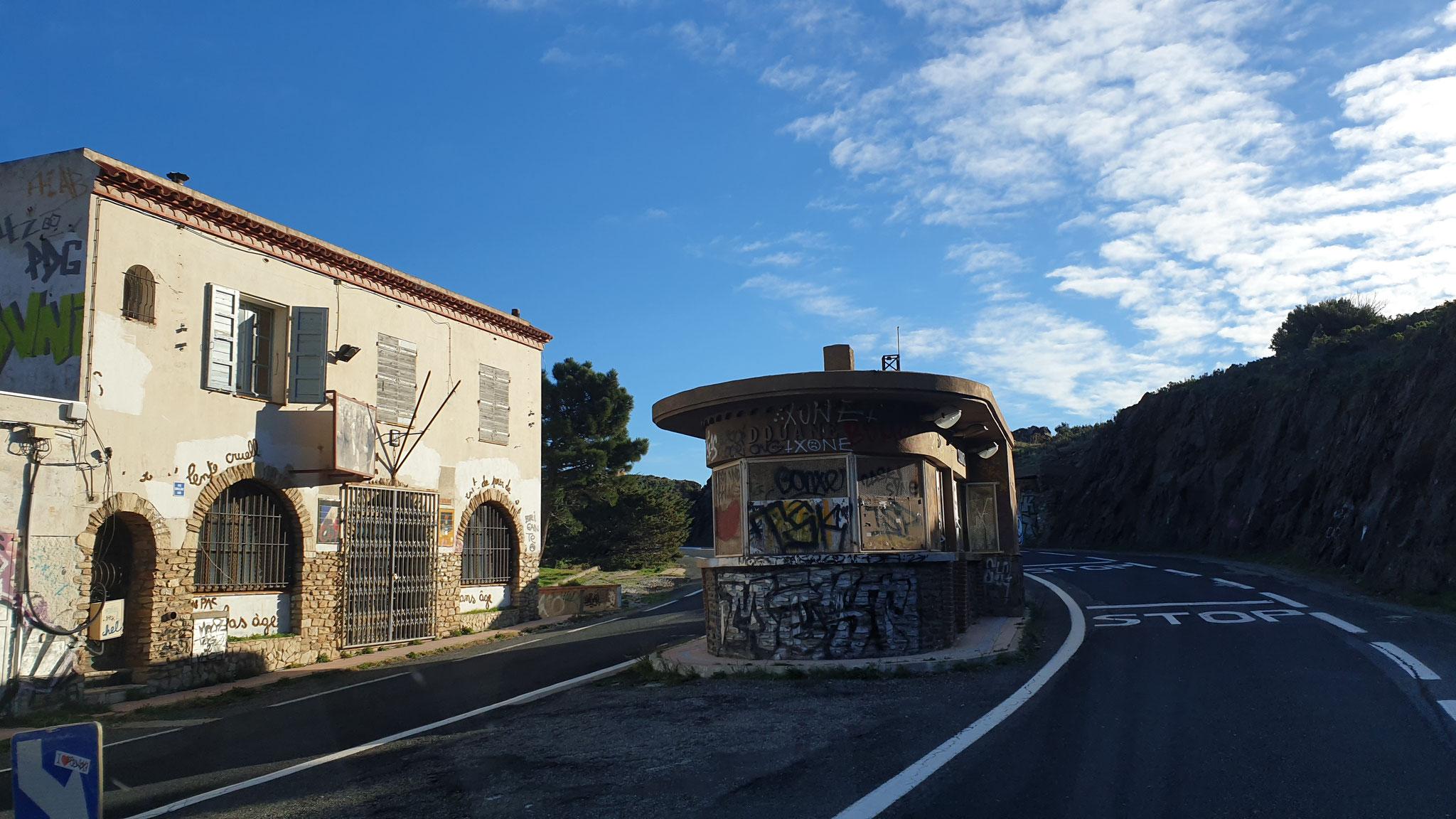 Der alte Zoll an der Grenze Frankreich - Spanien