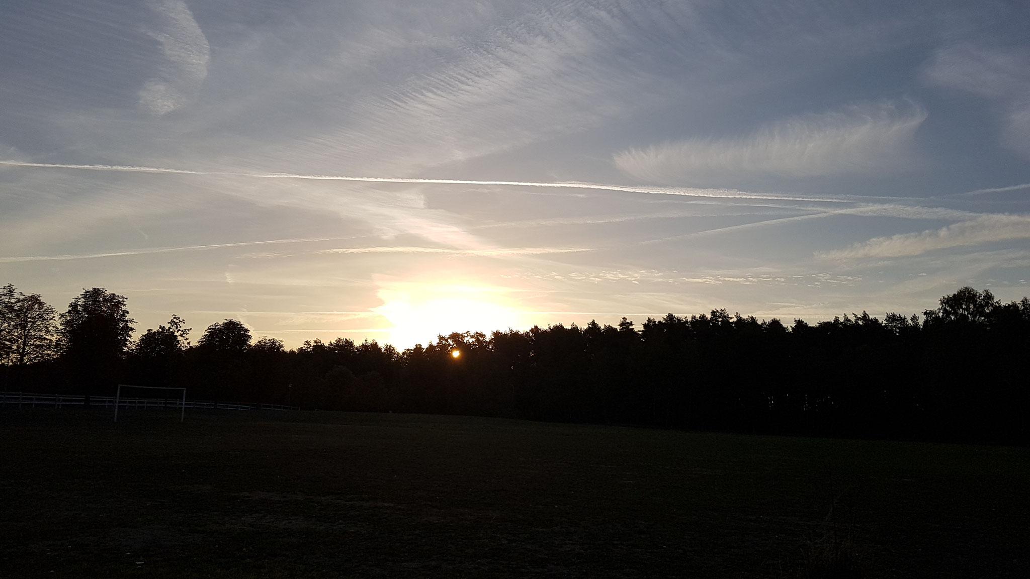 Was für ein Sonnenaufgang