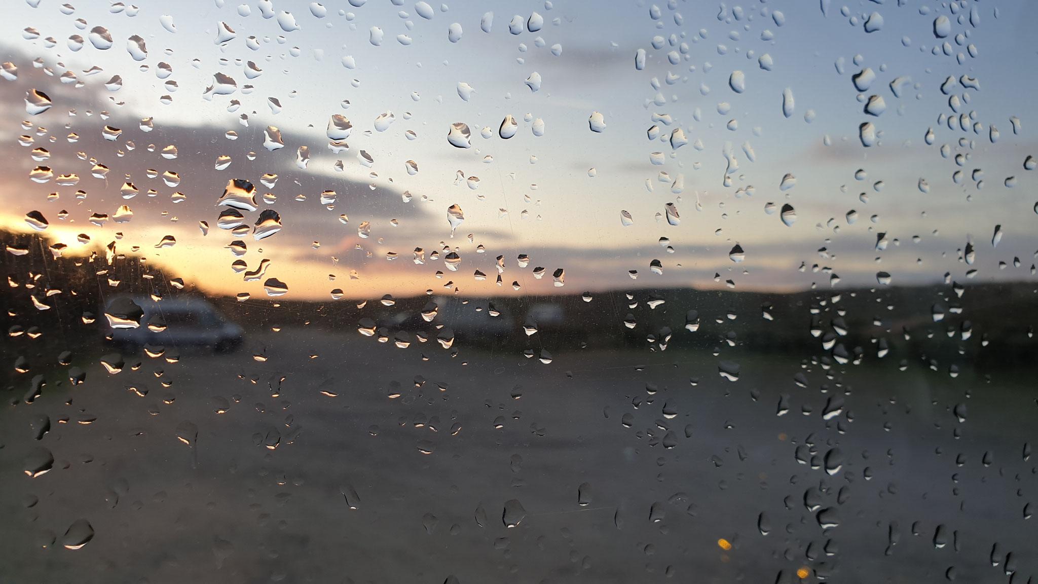 In der Nacht scheint es geregnet zu haben