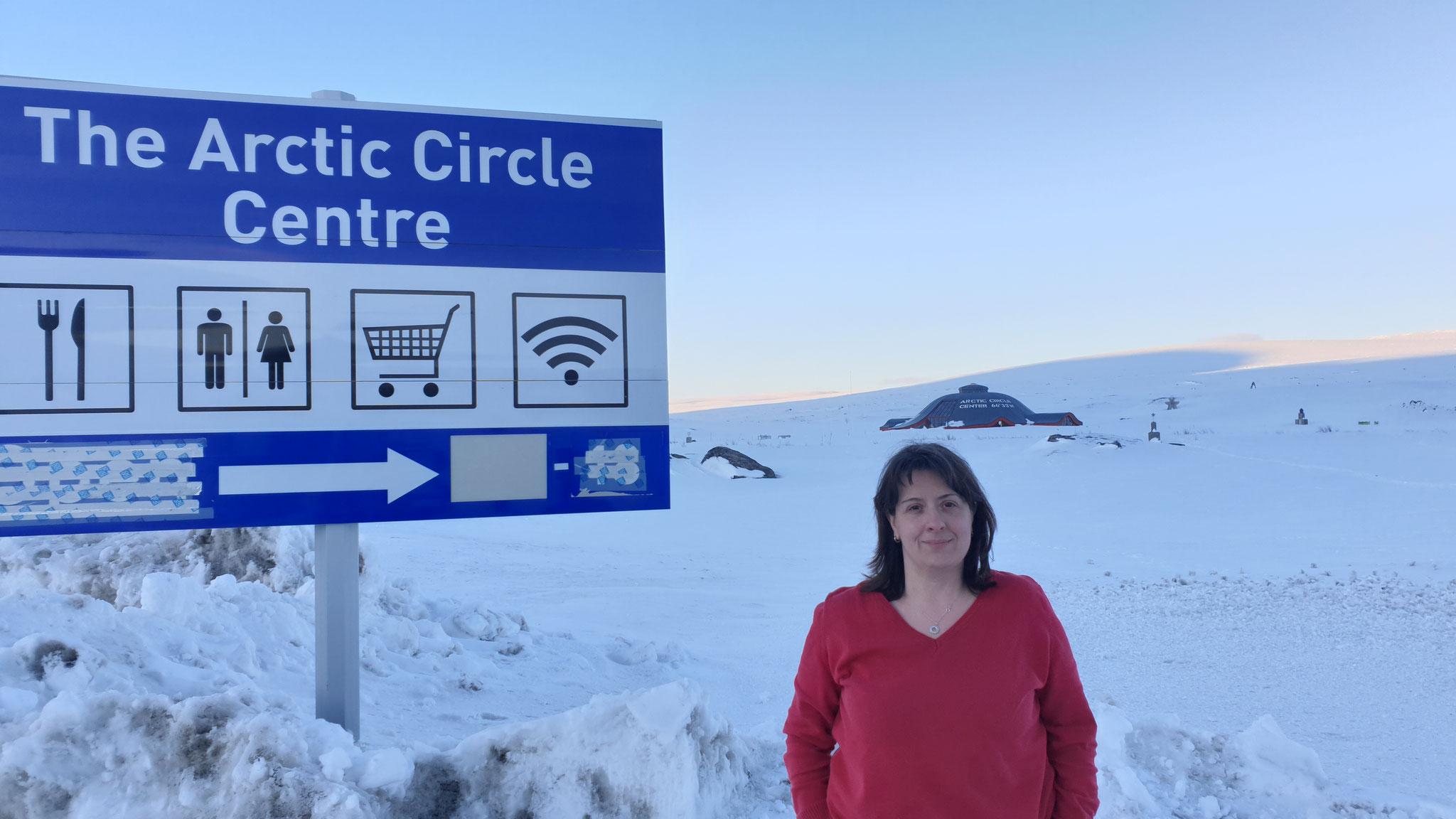 ...bei dickem Schnee sind wir am Polarkreis!!!