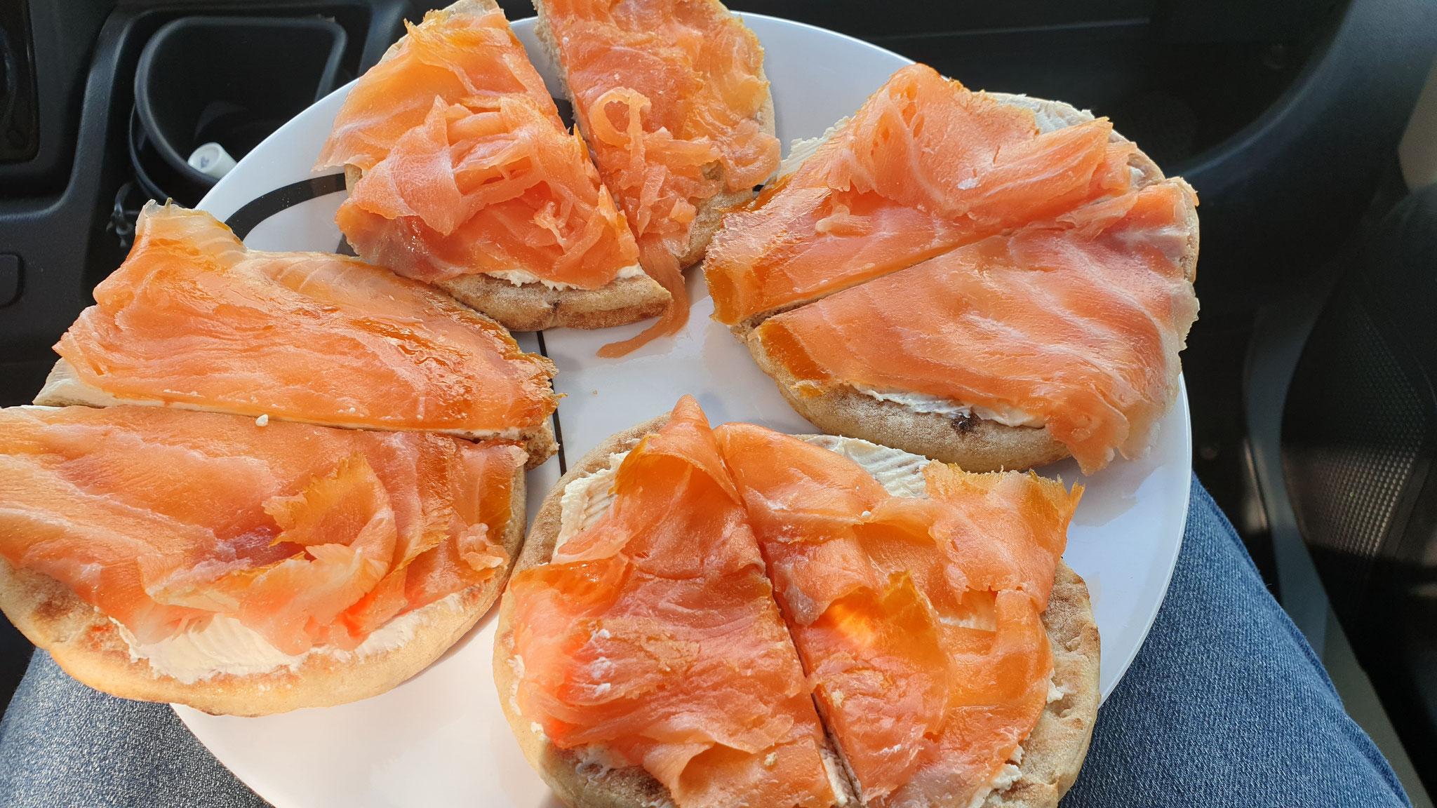 Norwegisches Mittagessen in Dänemark