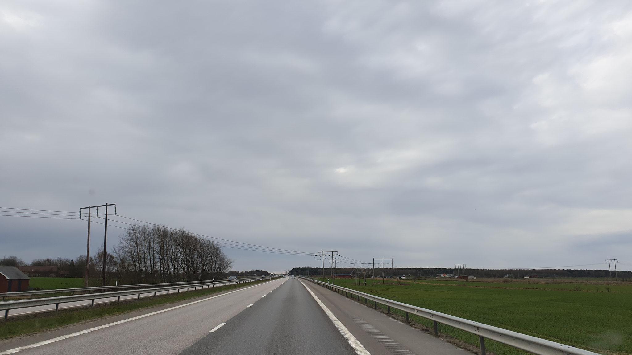 Der Himmel in Südschweden wird immer grauer