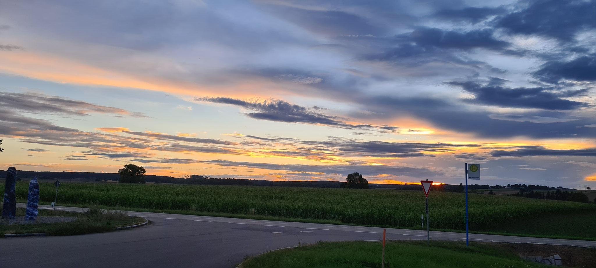 Sonnenuntergang in Dietingen...