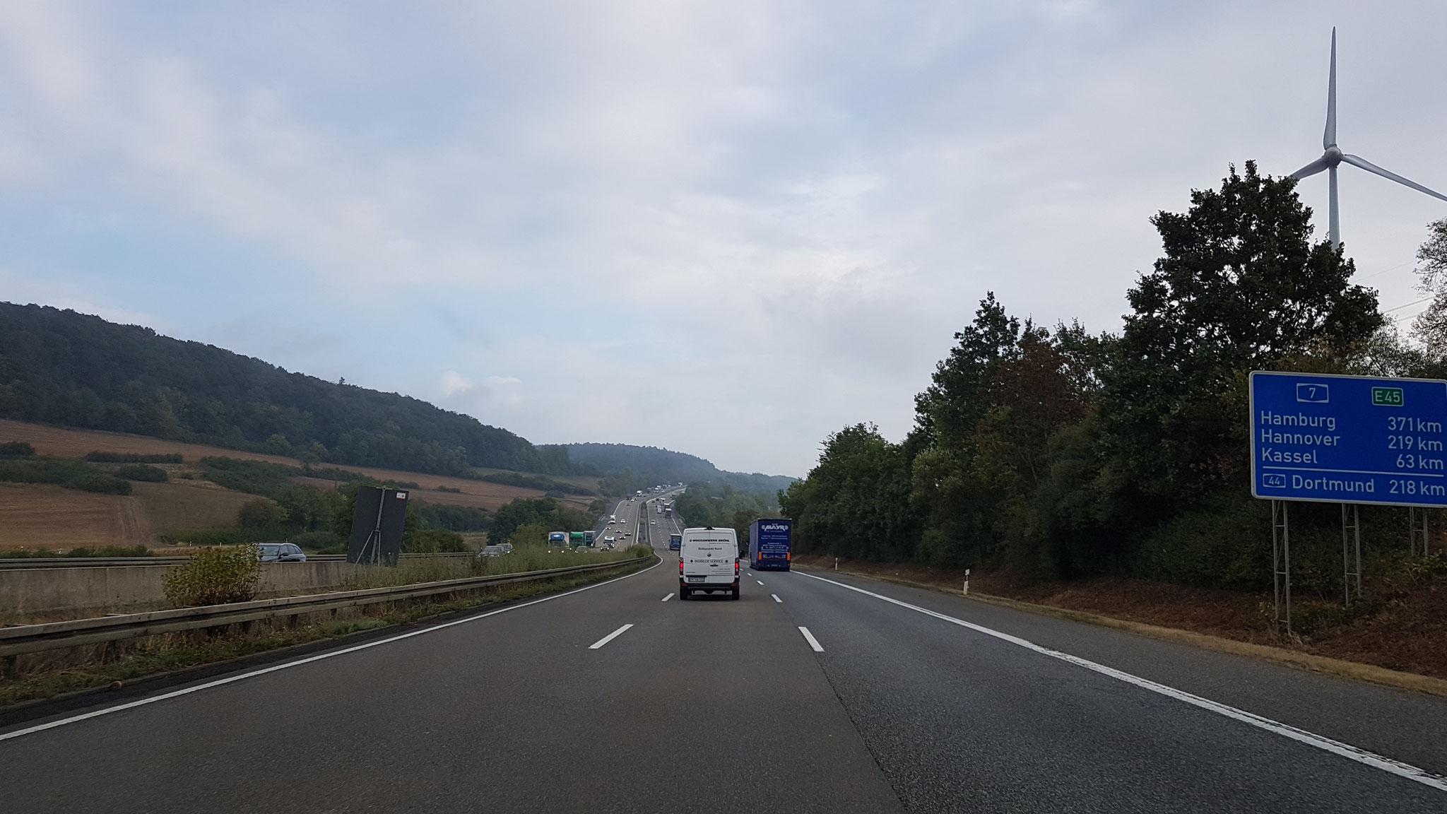 Schon 370 km vor Hamburg!