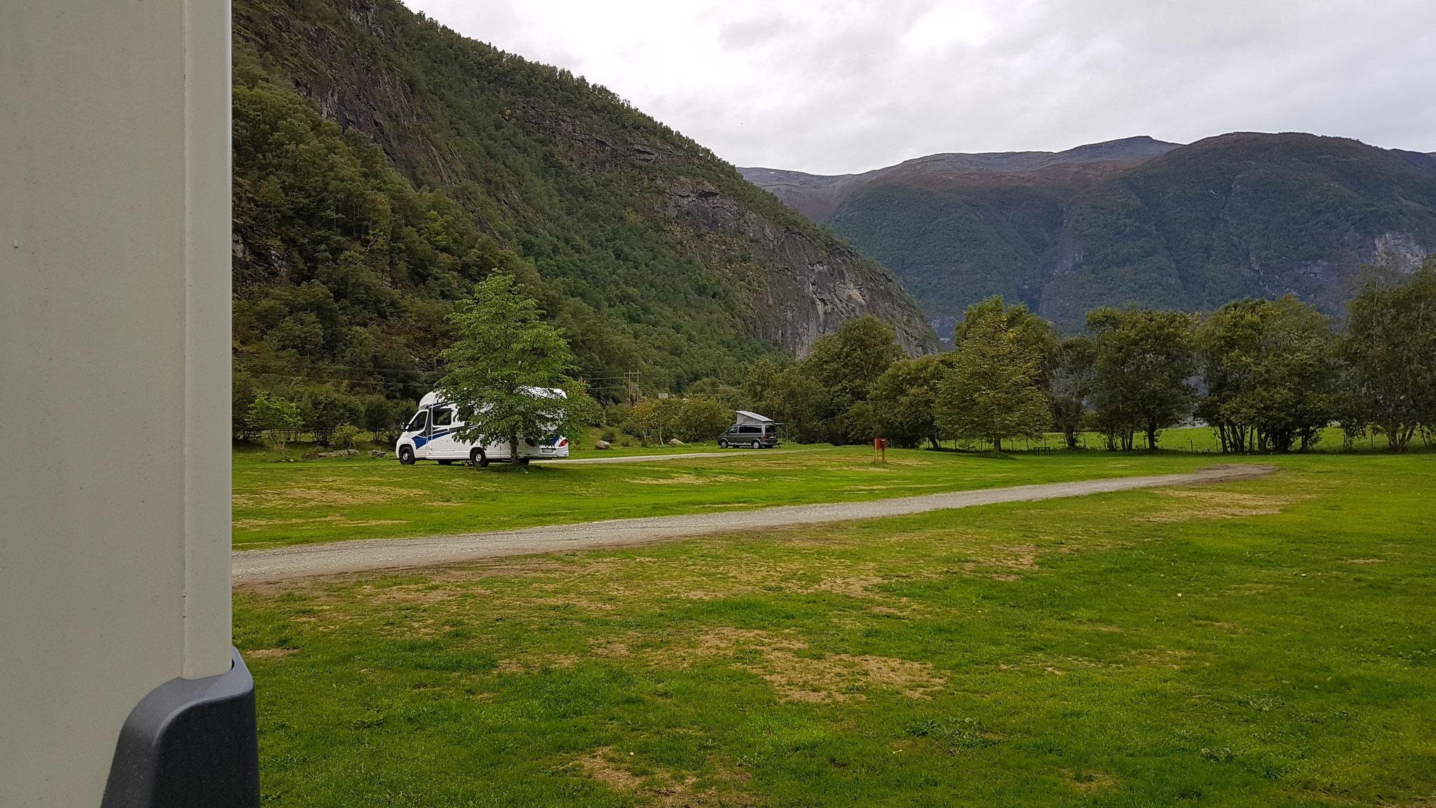Unser Campingplatz in Aurland