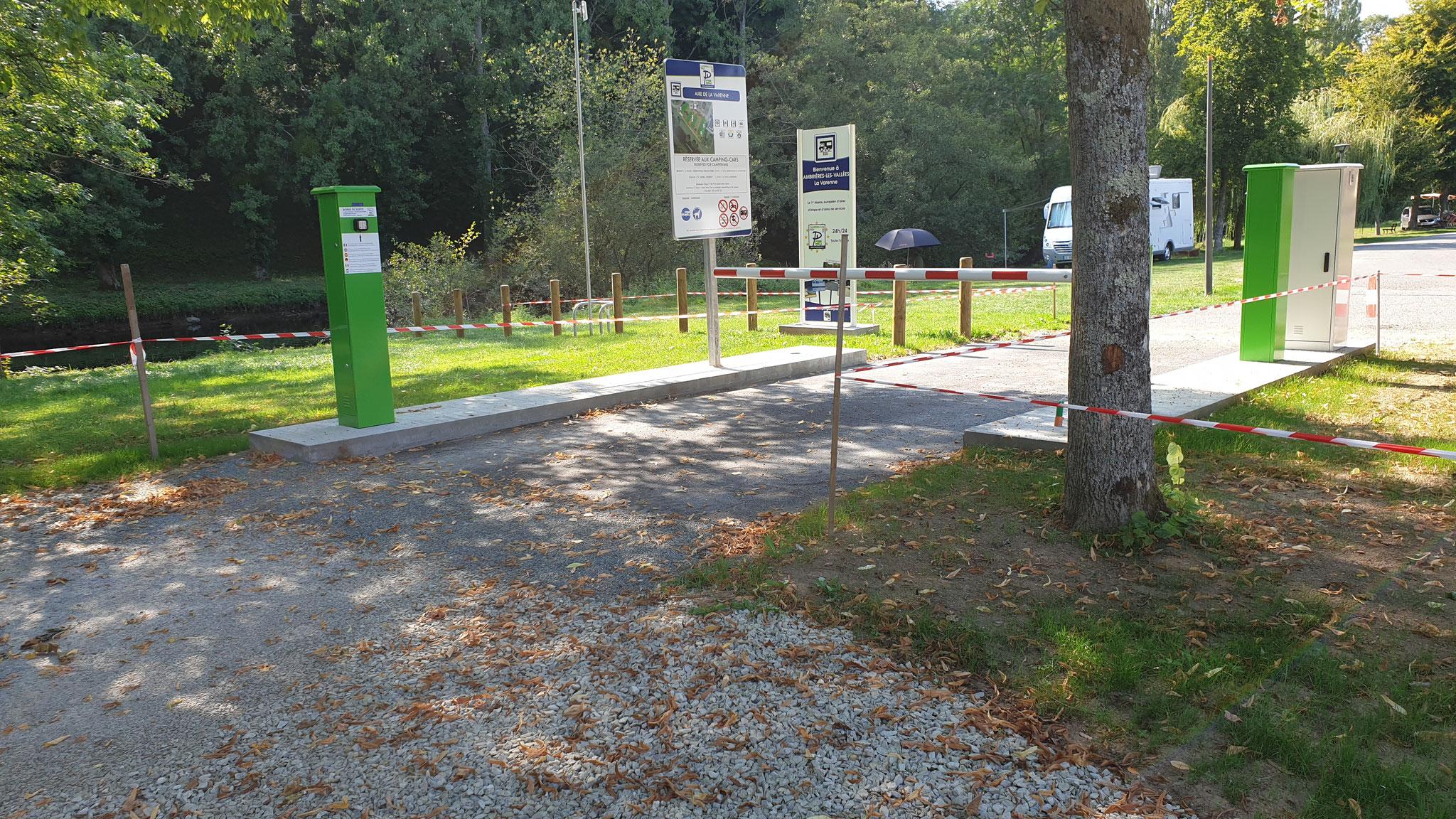 Aire Camping Car Park mit dem Mitglieder-Schrankensystem