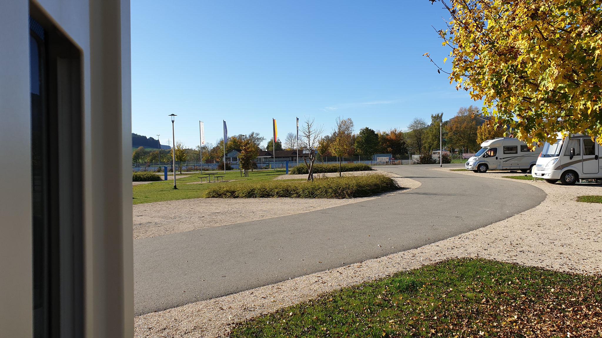 ...auf dem Stellplatz Geisingen
