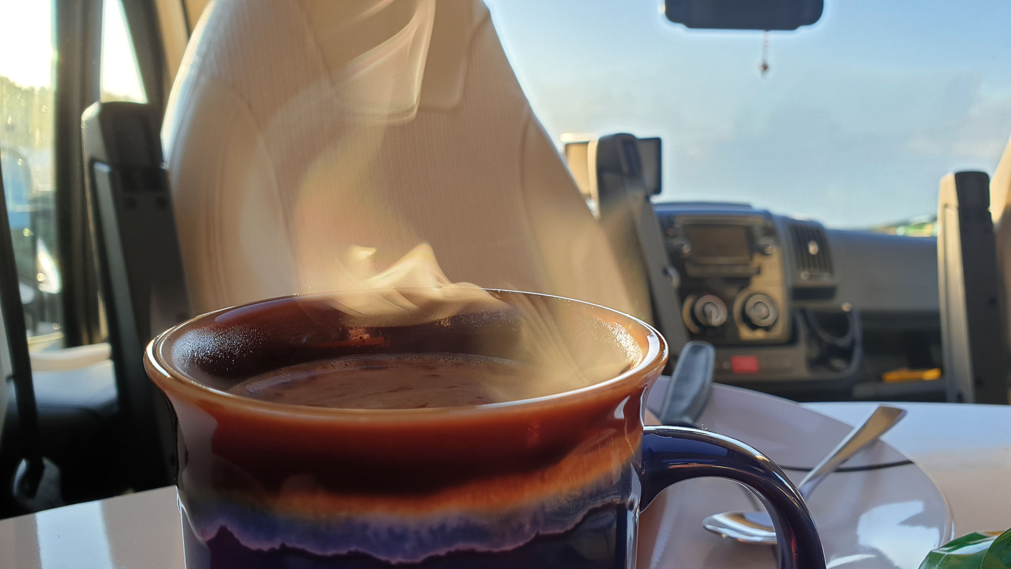 Duftender Kaffee am Morgen