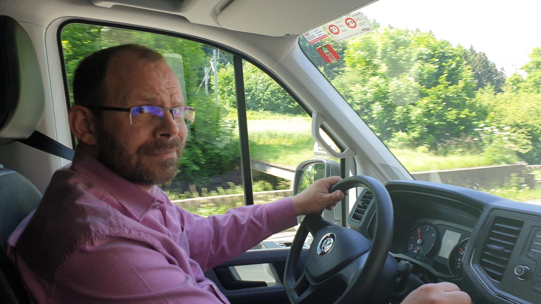 ... ohje - kein Fahrzeug, das Daniel Spass macht beim Fahren :(