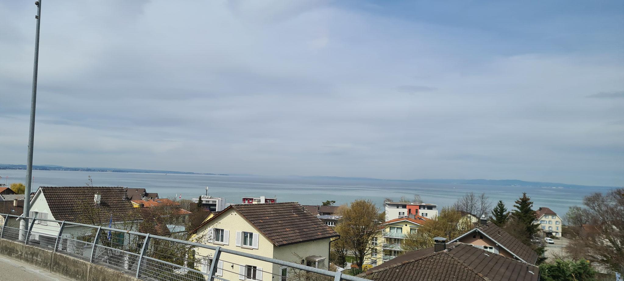 Schon ist der Bodensee zu sehen