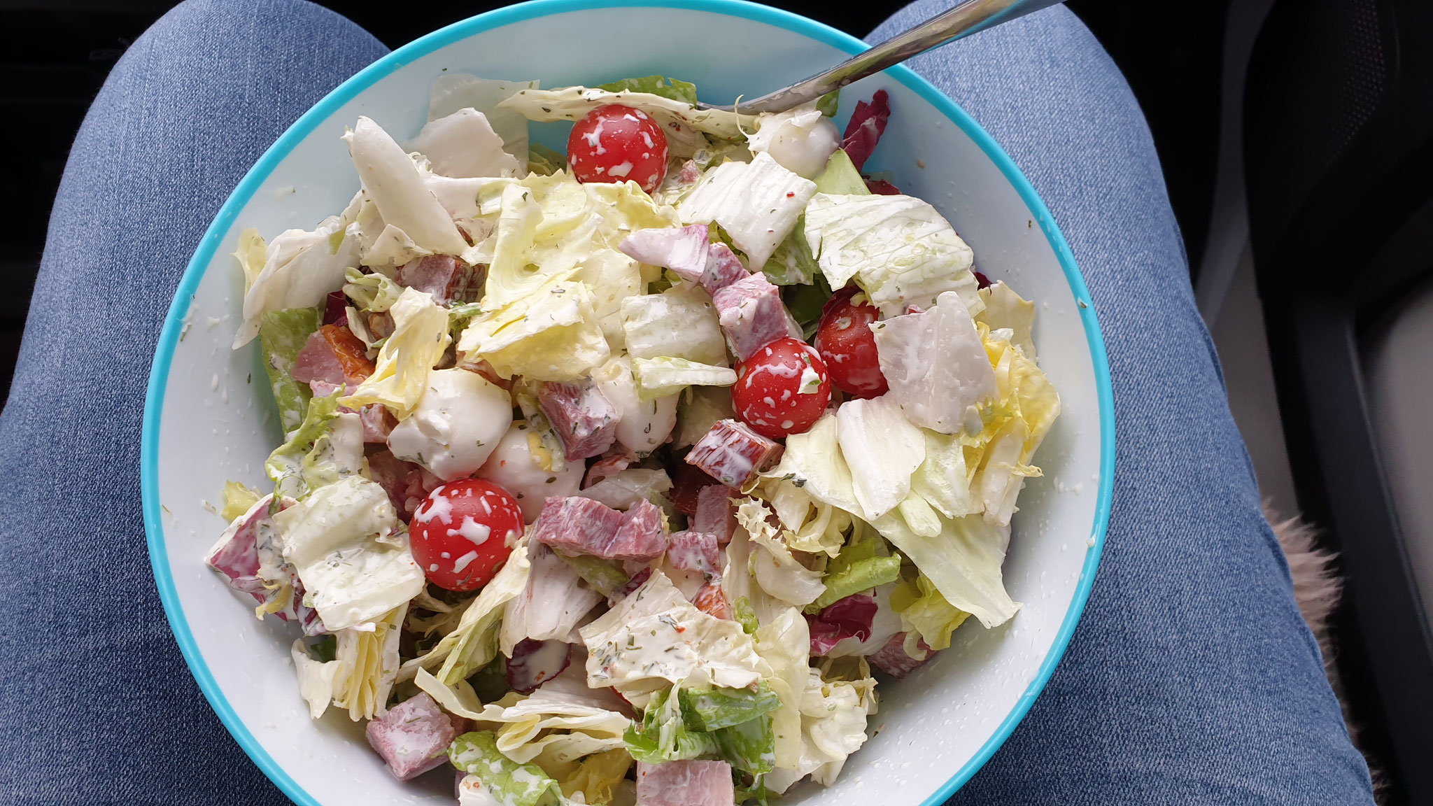 Der erste Jelly-Salat auf dieser Tour