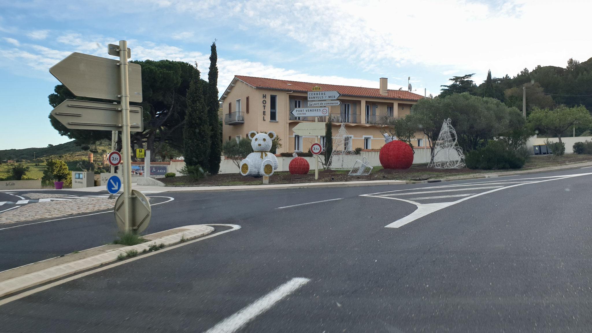 Weihnachtsteddy in Frankreich