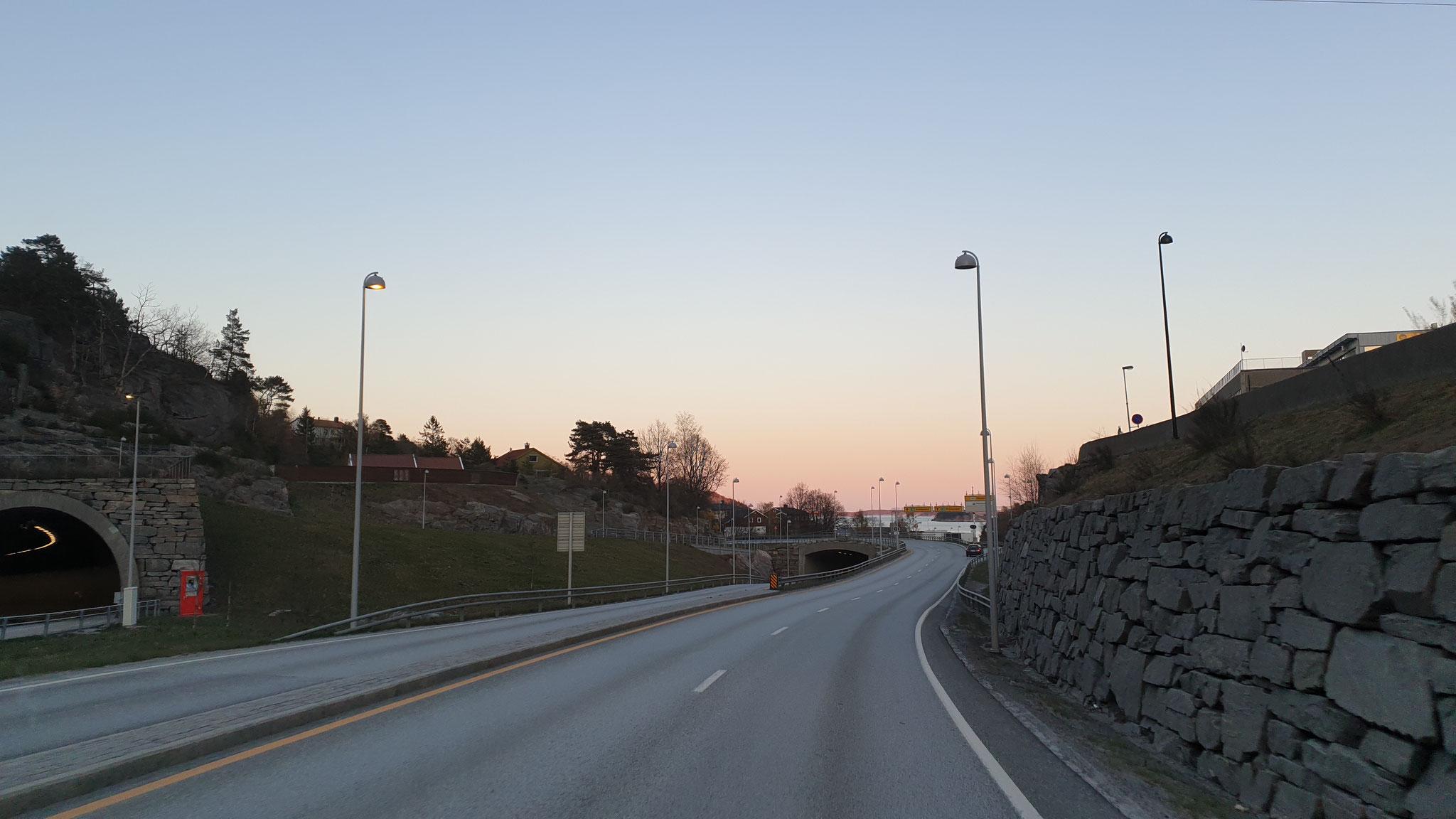 Durchfahrt durch Kristiansand...