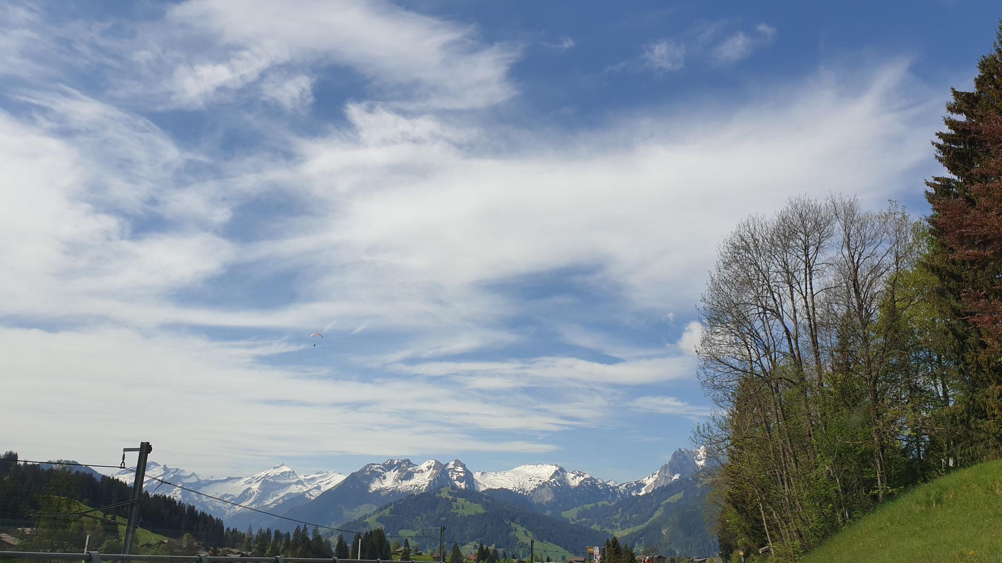 Schleierwolken bei 25 Grad - herrlich