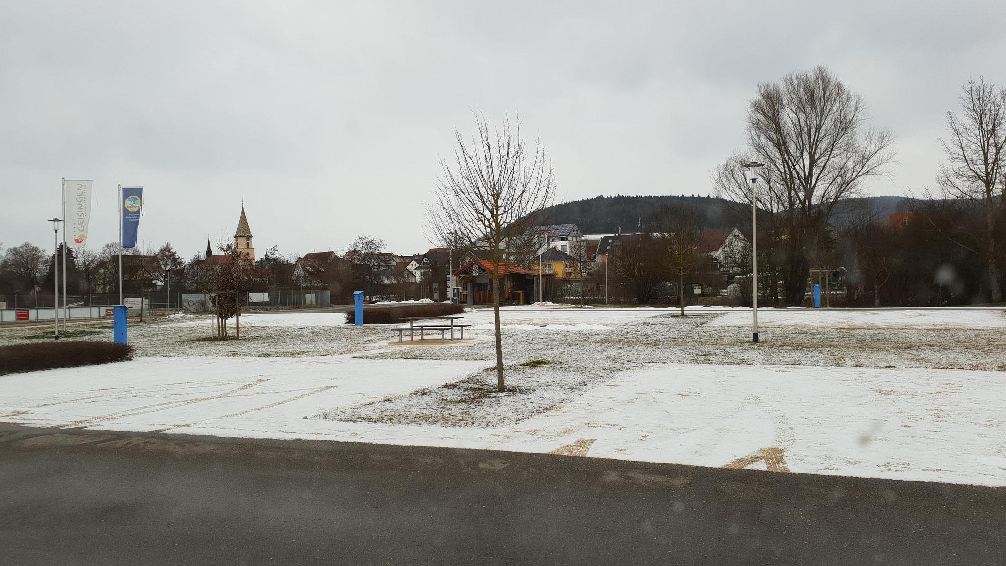 Alleine auf dem Stellplatz Geisingen