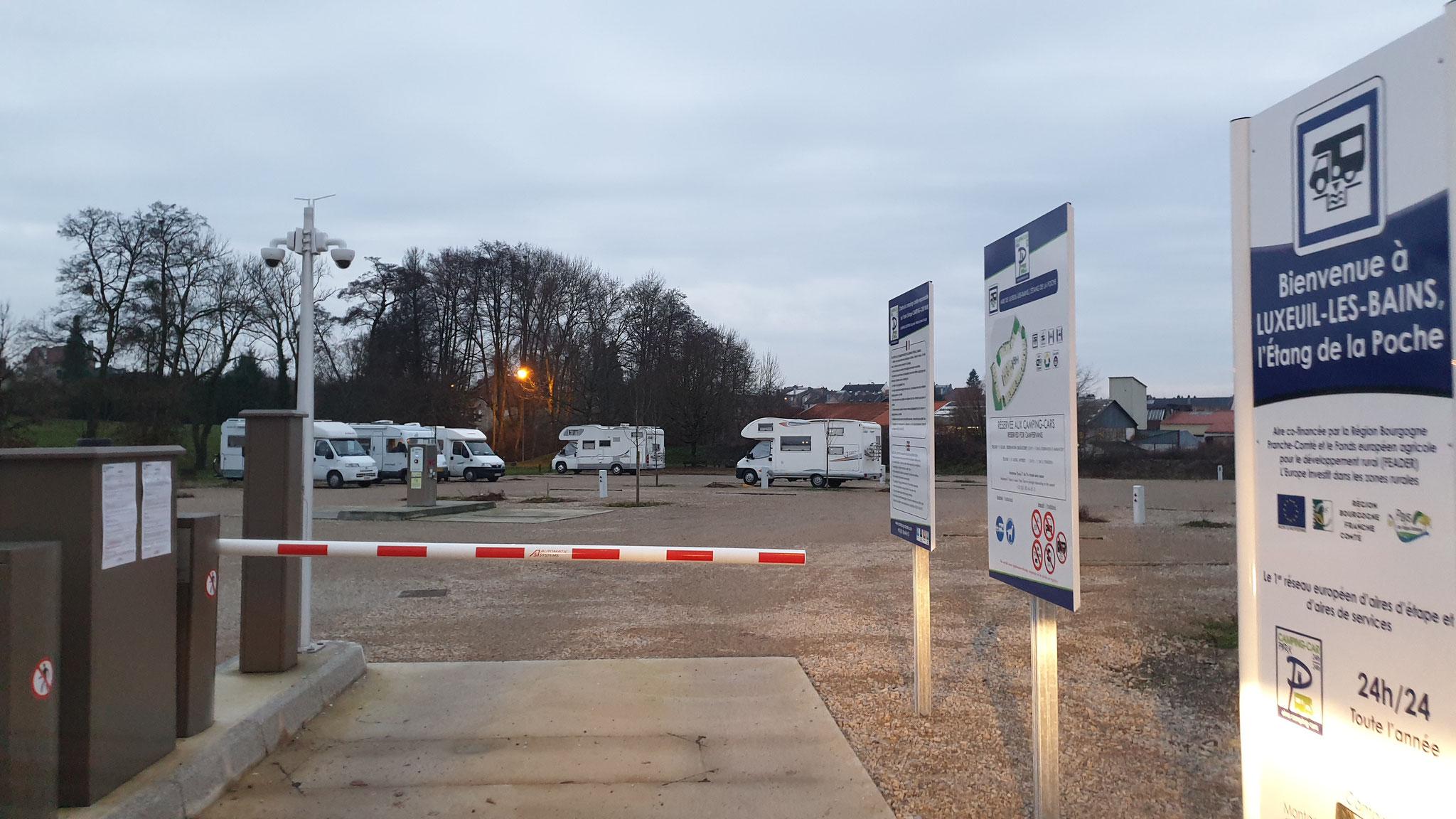 Einmal mehr Aire Camping Car Park...