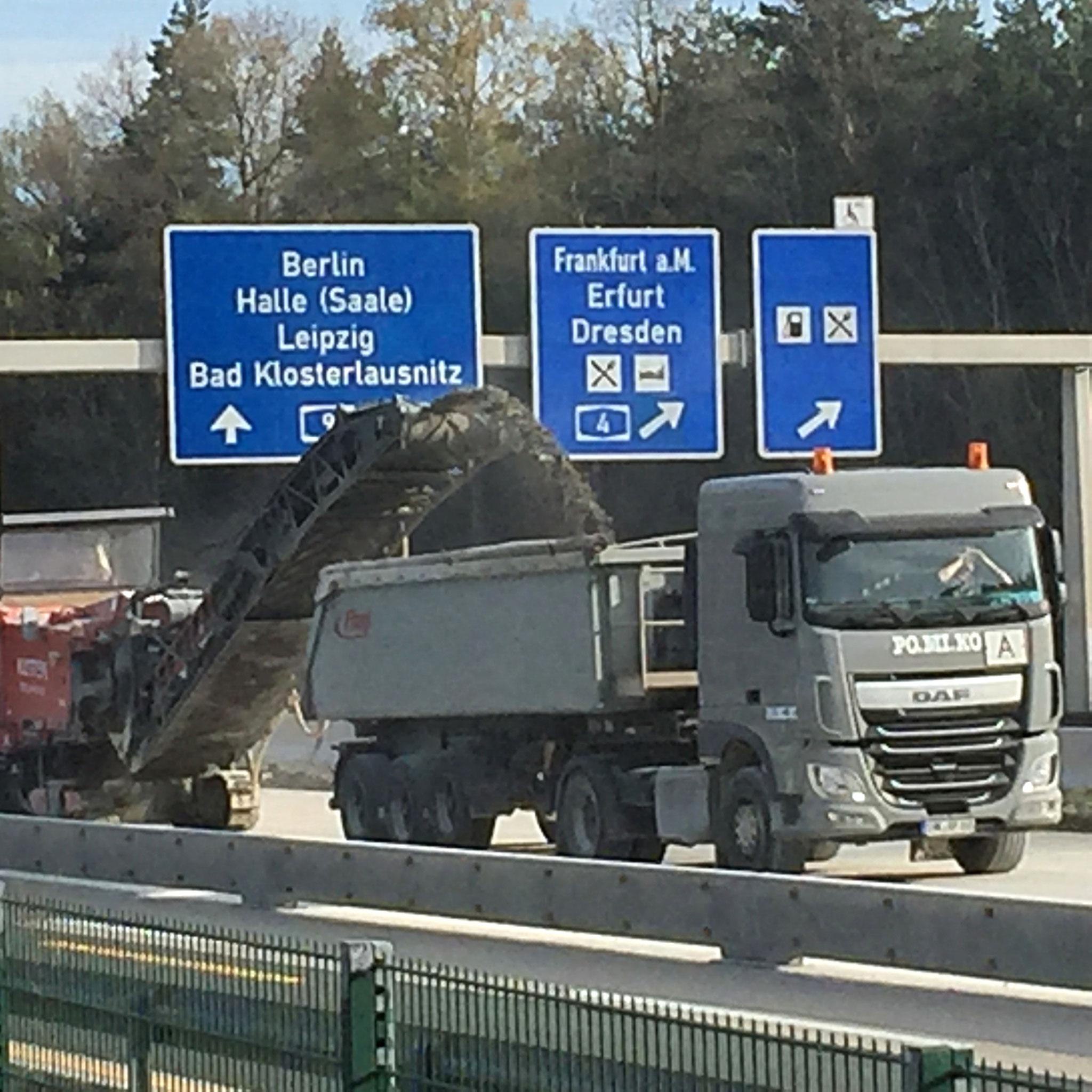 Einsatz auf Autobahnbaustellen im Schichtbetrieb