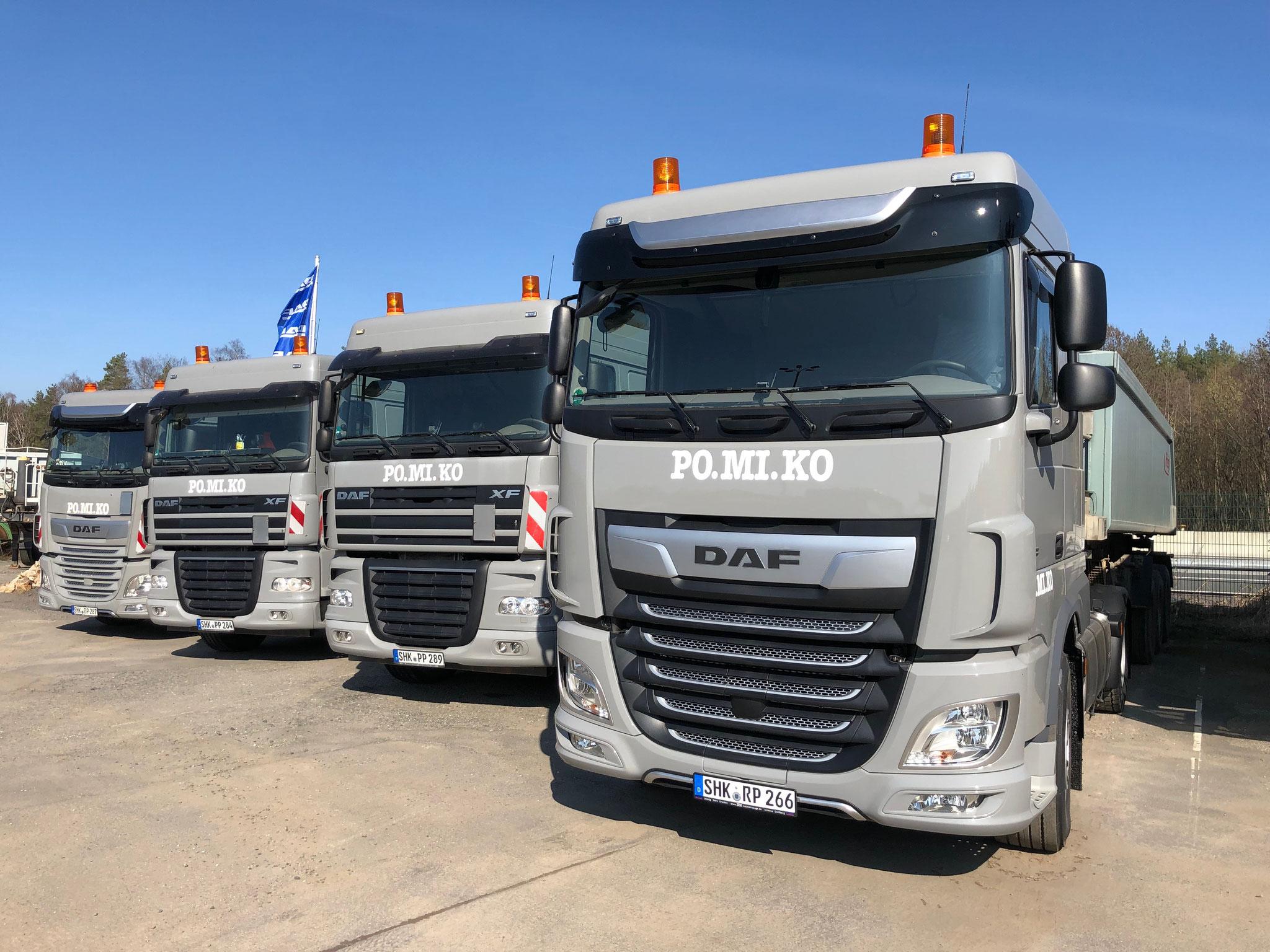 Komplettierung der Schüttgut-Sattel-Flotte durch Neuanschaffung einer weiteren Sattelzugmaschine abgeschlossen!
