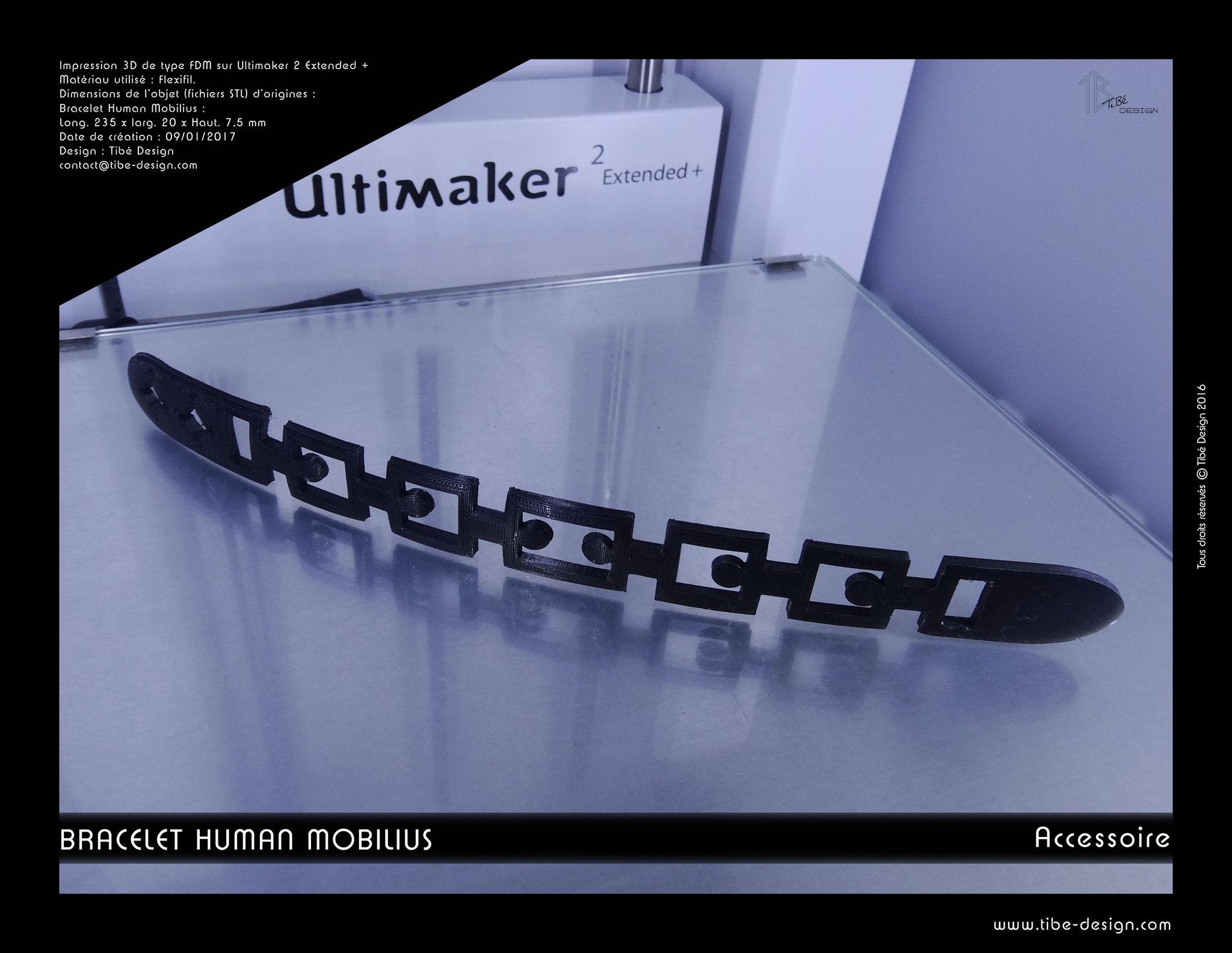 Bracelet flexible Human Mobilius V.1