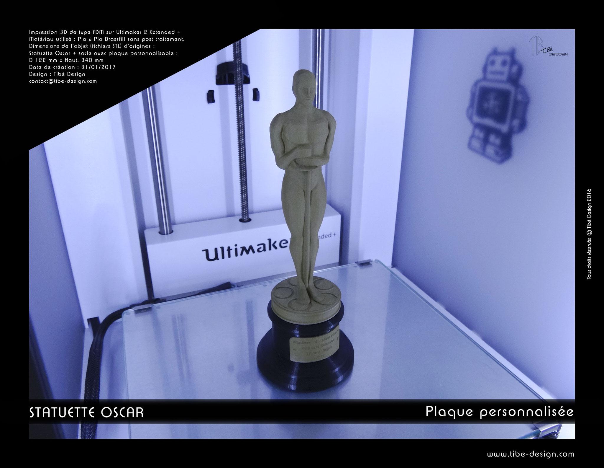 Trophée Oscar américain personnalisé