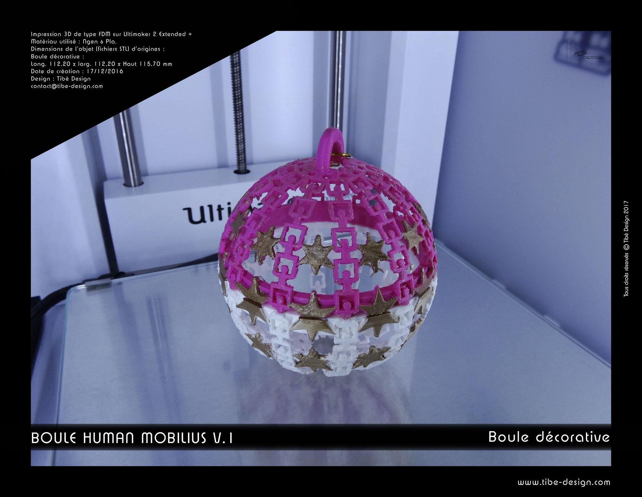 Boule décorative Human Mobilius V.1